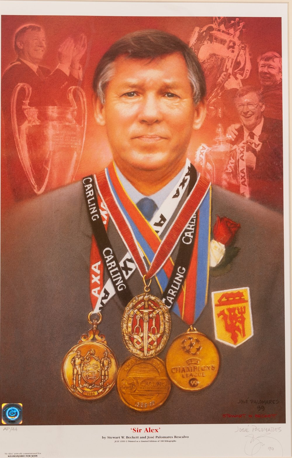 Lot 60 - SIGNED PHOTOGRAPH OF SIR ALEX FERGUSON CBE. Dinner menu and Conferment of the Freedom of the City