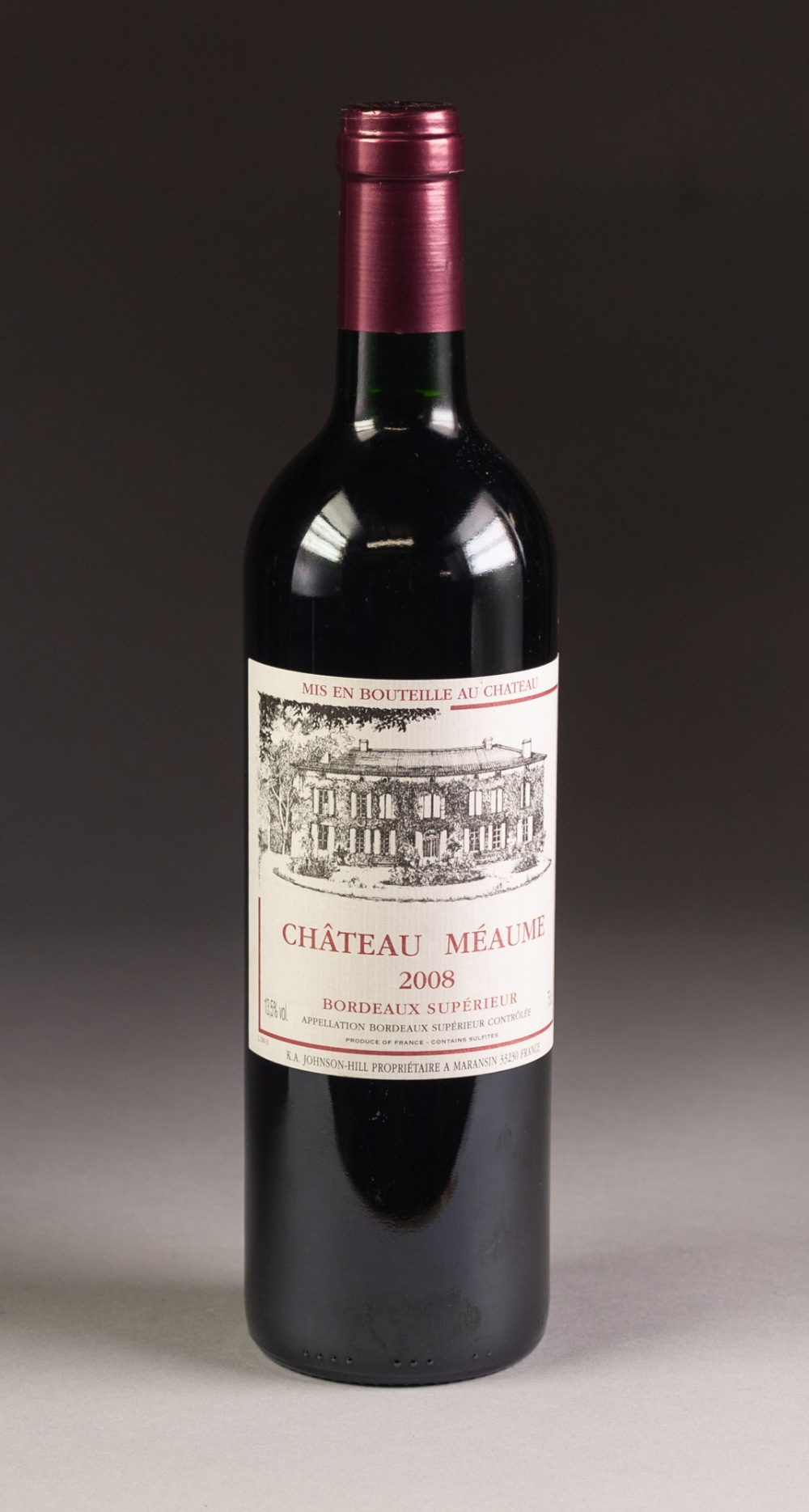 Lot 40 - BOTTLE OF CHATEAU MEAUME, BORDEAUX SUPERIEUR, 2008
