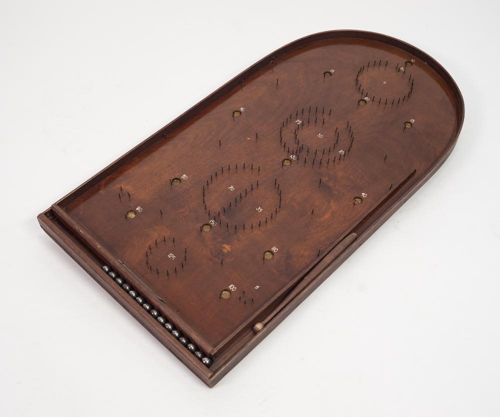 Lot 327 - 'The New Merton Board Mills', 'Corinthian' BAGATELLE BOARD, in original box, with accessories