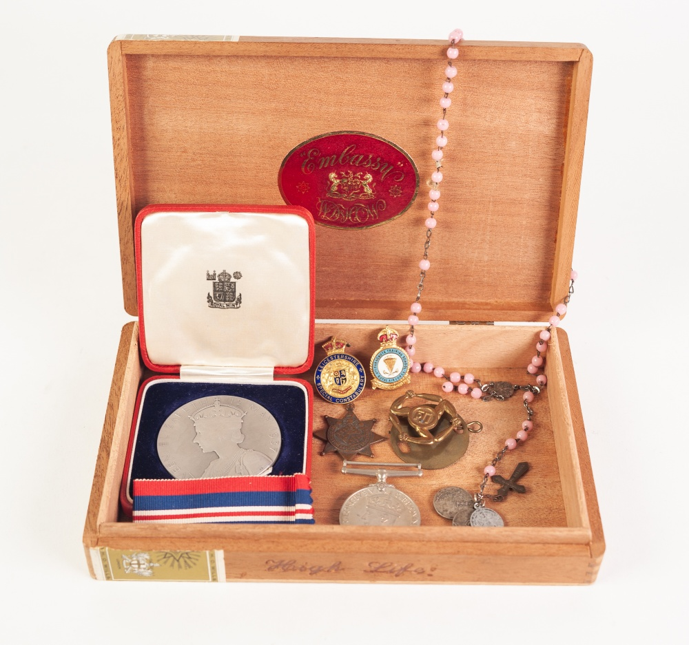 Lot 24 - CASED 'GEORGE VI CORONATION MEDAL', together with a 1939-45 WAR MEDAL, in original box,