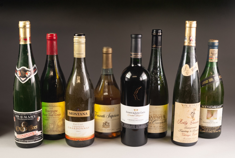 Lot 45 - EIGHT BOTTLES OF 1990'S AND LATER WINE, various countries, including a bottle of Saumur Les