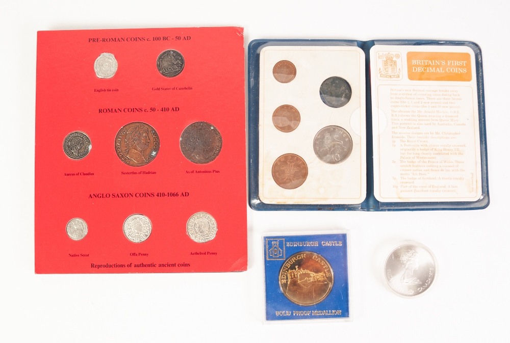 Lot 5 - GLENDINNING ASSOCIATES FOLDER OF 8 REPRODUCTIONS OF AUTHENTIC ANCIENT COINS OF BRITISH - PRE-ROMAN