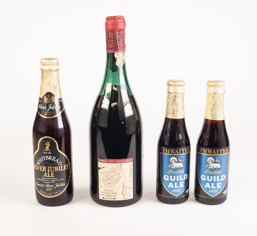 Lot 48 - A SINGLE BOTTLE OF PORTA DOS CAVALEIROS (Portugal 1966) RED WINE, a single bottle of Whitbread