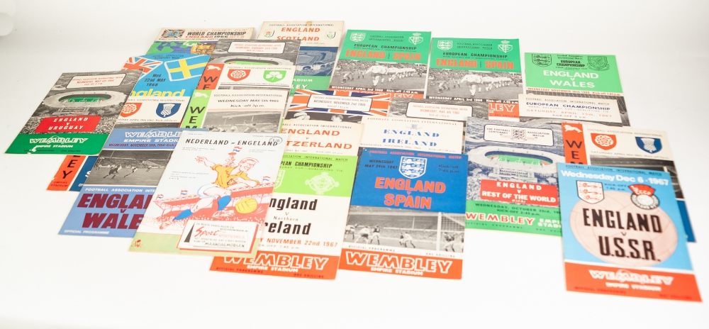Lot 86 - TWENTY FOUR ENGLAND INTERNATIONALS FROM THE LATE 1950's TO 1960's TO INCLUDE; v Scotland 1959,