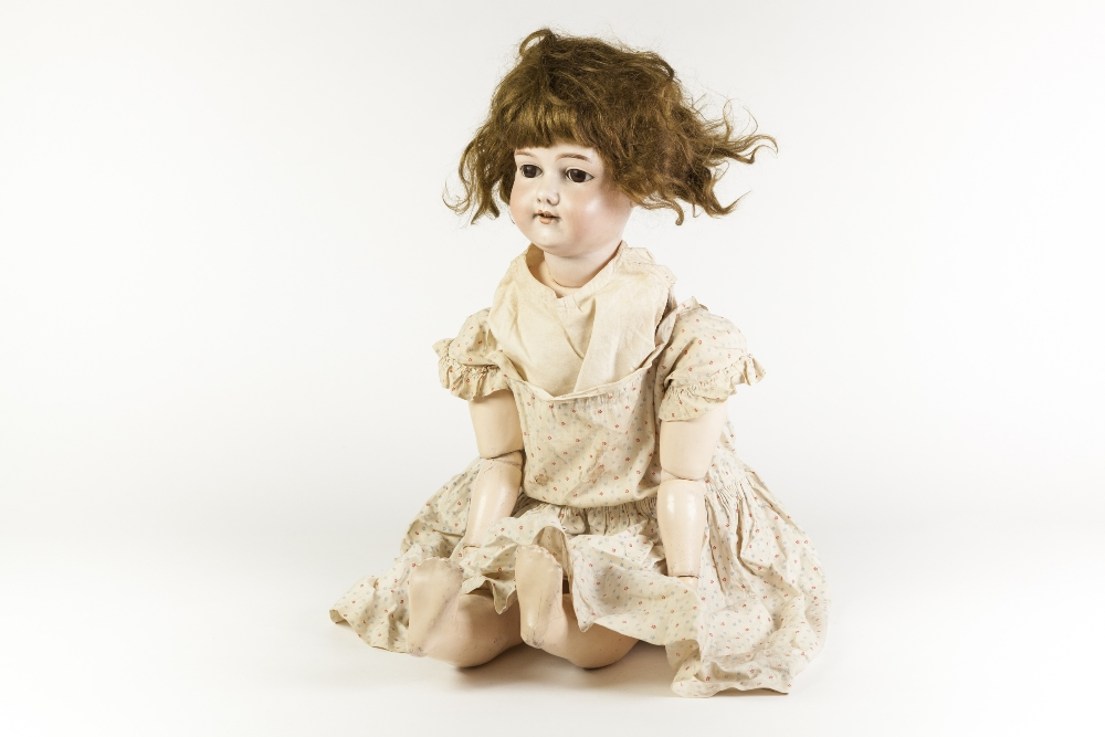 Lot 314 - EARLY 20th CENTURY ARMAND MARSEILLE, GERMANY, BISQUE HEAD DOLL, numbered 390 with sleeping brown