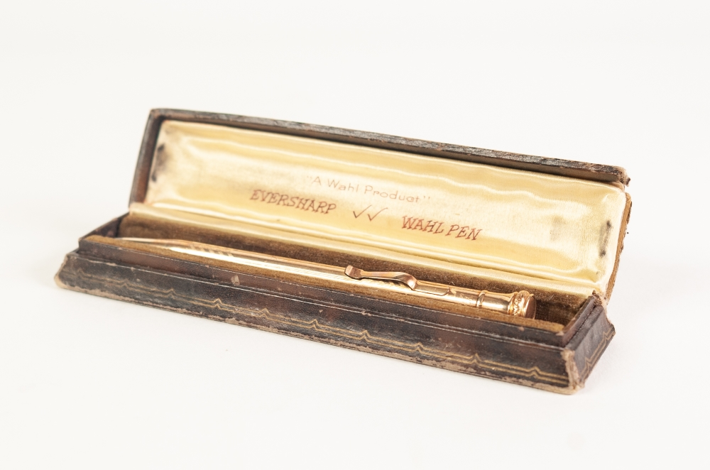 Lot 228 - A ROLLED GOLD EVERSHARP WAHL PROPELLING PENCIL, in case