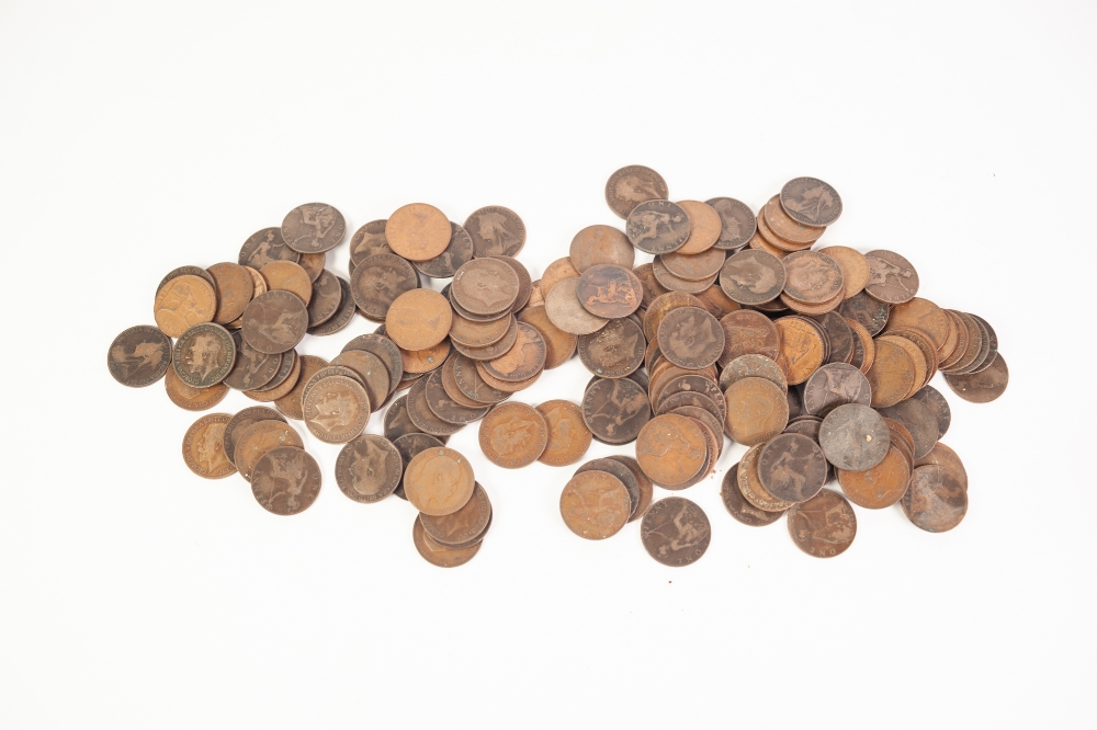 Lot 16 - QUANTITY OF BRITISH COPPER COINS, mainly pennies plus some foreign coins (2 boxes)