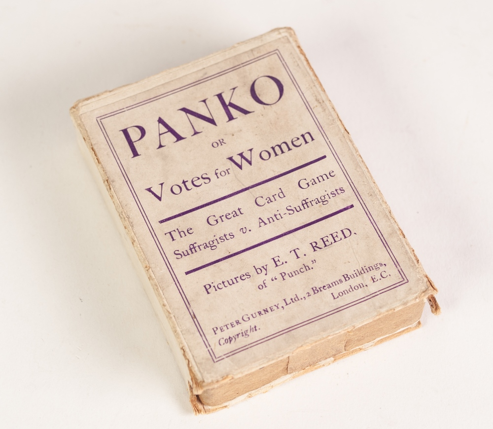 Lot 216 - A BOXED SET OF PANKO OR VOTES FOR WOMEN PLAYING CARDS, (2nd Edition with card values) pictured by