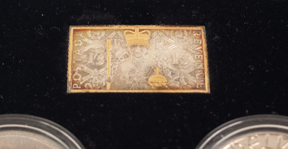 Lot 2 - LIMITED EDITION ''THE CORONATION ANNIVERSARY INGOT & CROWN SET', in original case, with certificate
