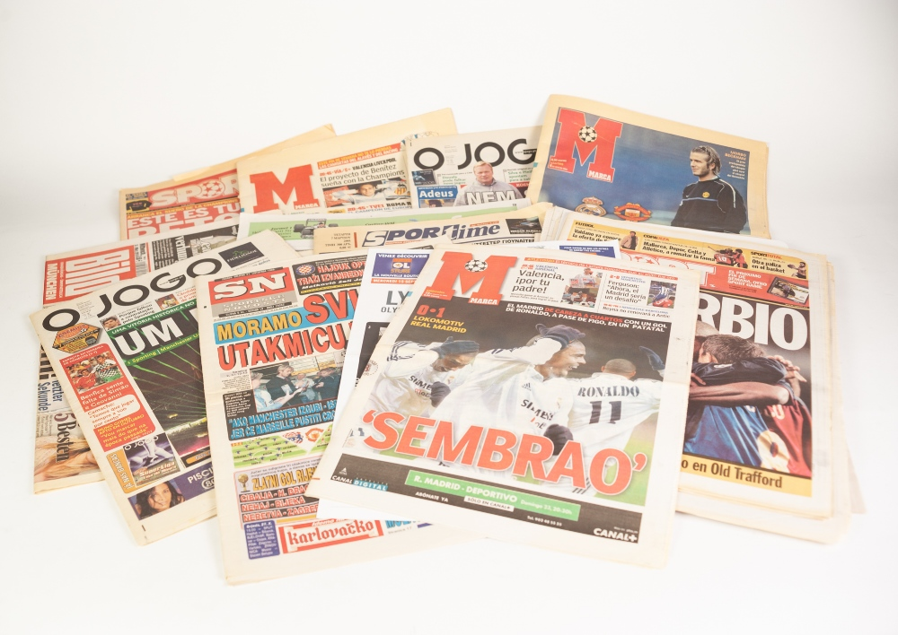 Lot 58 - 40 NEWSPAPERS/PROGRAMMES FROM EUROPEAN AWAYS, 11 European Home Programmes, 20 European Away