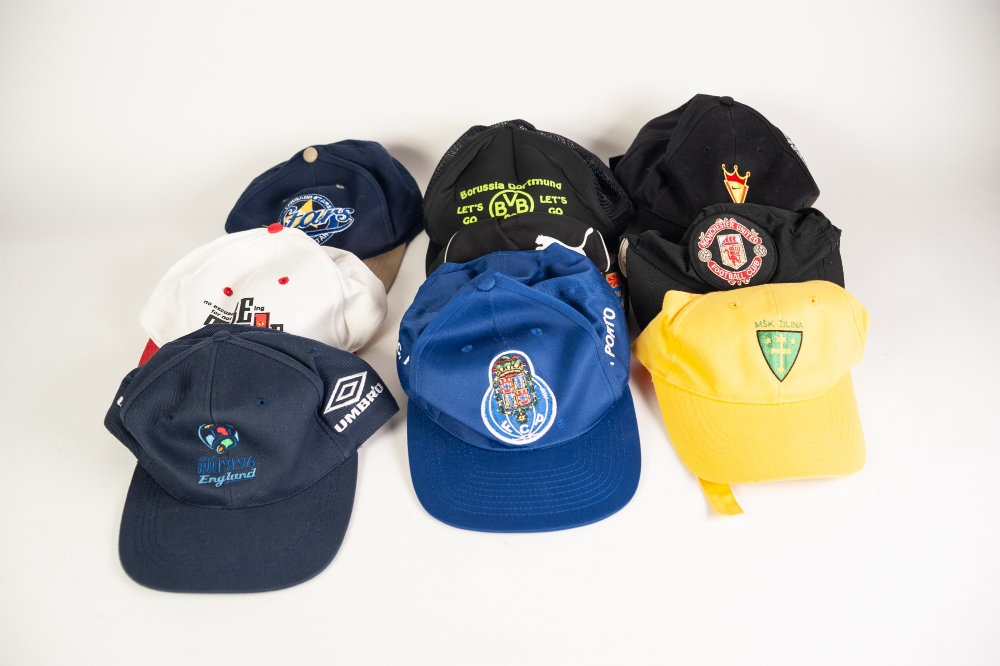Lot 106 - LARGE QUANTITY OF FOOTBALL MEMORABILIA to include; FOOTBALL SCARVES, TEE SHIRTS, CAPS