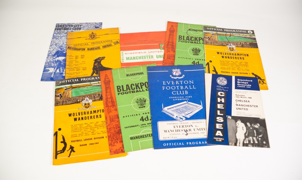 Lot 91 - 69 MANCHESTER UNITED AWAY PROGRAMMES FROM THE 1960's