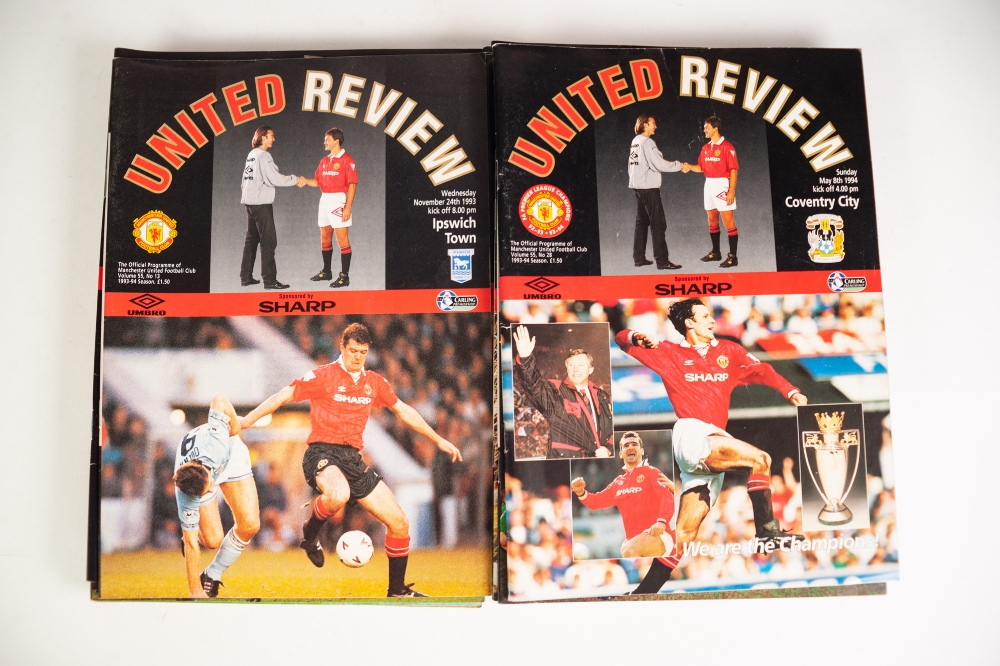 Lot 54 - MANCHESTER UNITED HOME PROGRAMMES 309, FROM SEASONS 1981-82 to SEASON 1993-94 (309)