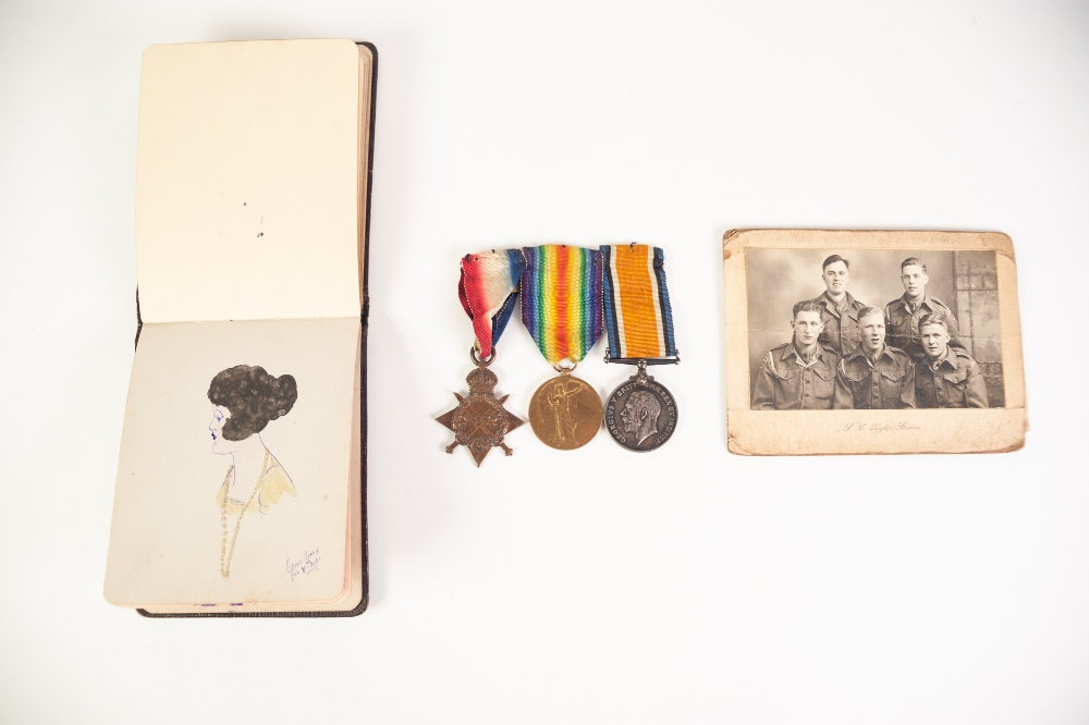 Lot 18 - PRIVATE H.C.CARTER, LANCASHIRE FUSILIERS, 240146, SET OF THREE WWI MEDALS, together with HIS