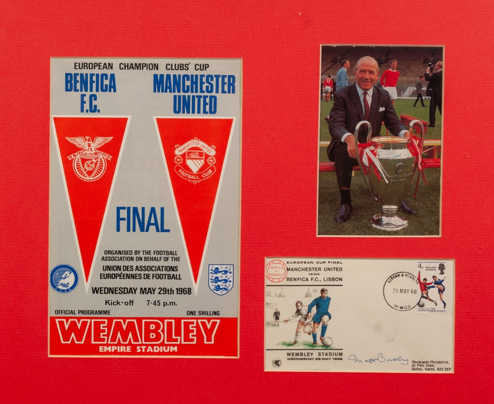 Lot 62 - MATT BUSBY LAST MATCH, 12th January 1985 PROGRAMME with ticket stub, EUROPEAN PROGRAMME 1968 with