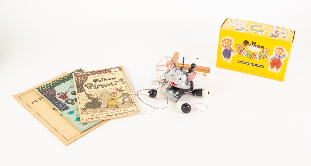 Lot 326 - PELHAM STANDARD STRING PUPPET 'CAT', in original box, TOGETHER WITH BOOKS ONE AND TWO, 'Plays for