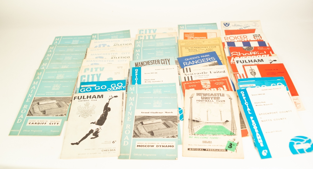Lot 102 - QUANTITY OF LEAGUE PROGRAMMES FROM THE 1960's TO INCLUDE; Manchester City, Stockport, Liverpool