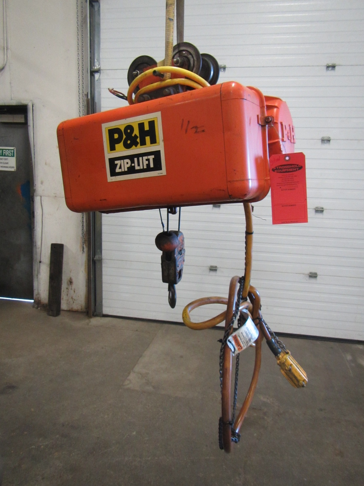 P&H ZIP-LIFT 1/2 Ton Electric Hoist - 2 speed and 15' of lift