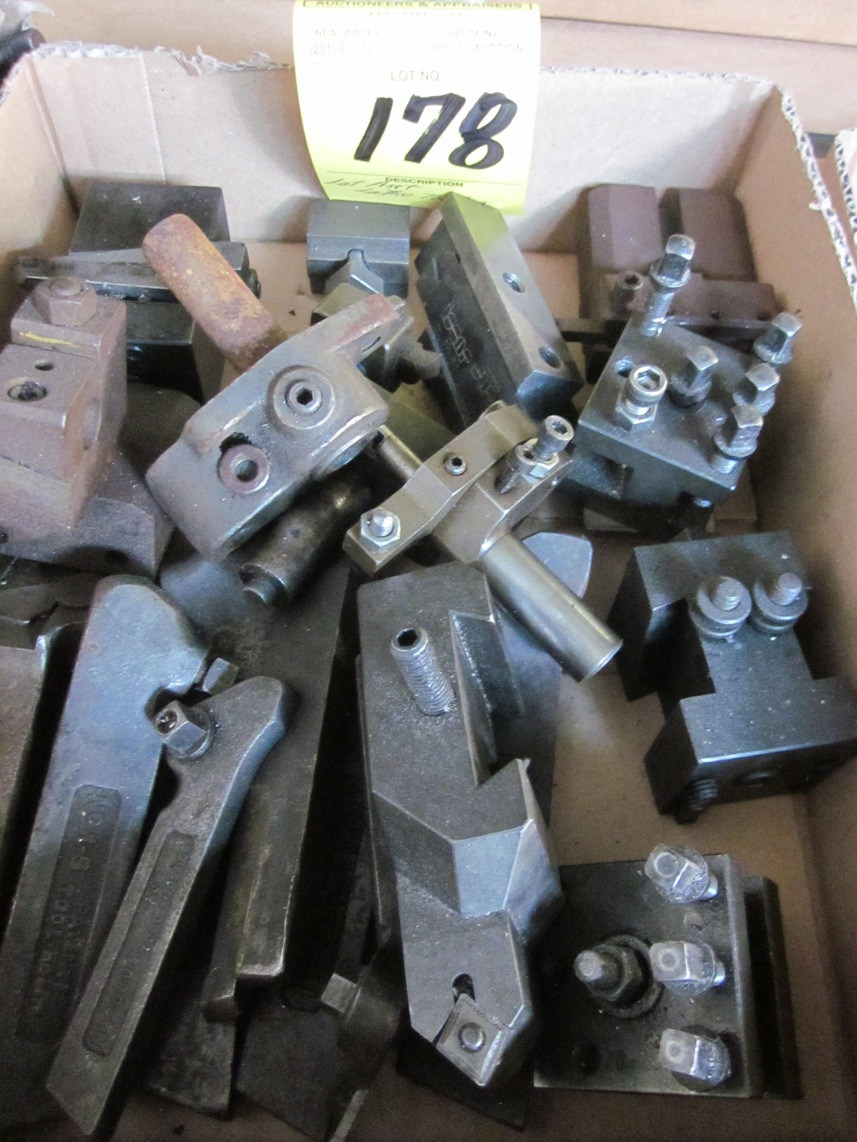 Lot 178 - LOT - ASSORTED LATHE TOOLING