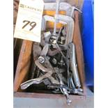 """LOT - SMALL """"C""""-CLAMPS & VISE GRIPS"""