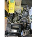 LOT - (7) ASSORTED ELECTRIC HAND TOOLS