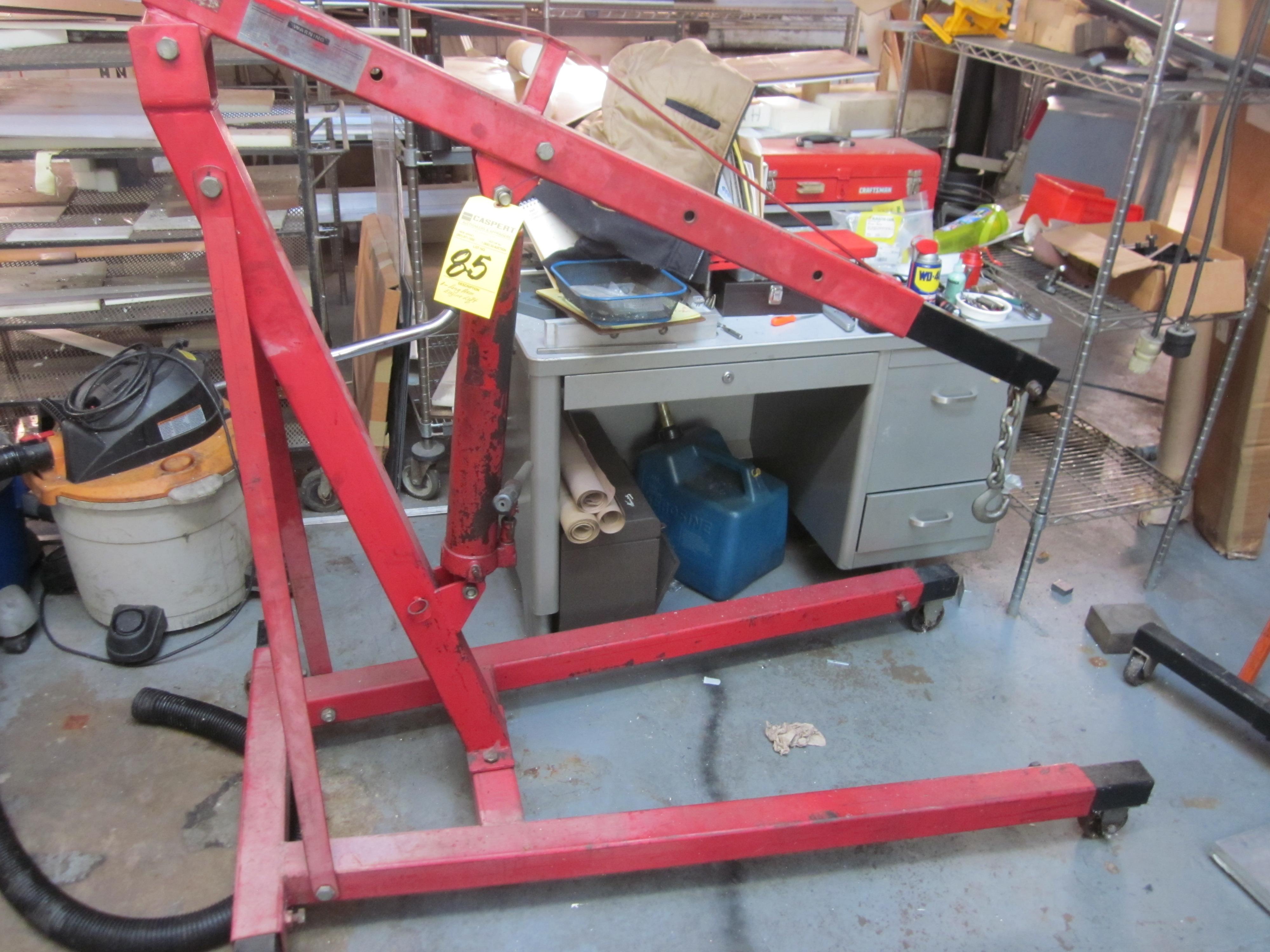 Lot 85 - LONG ARM HYDRAULIC ENGINE LIFT