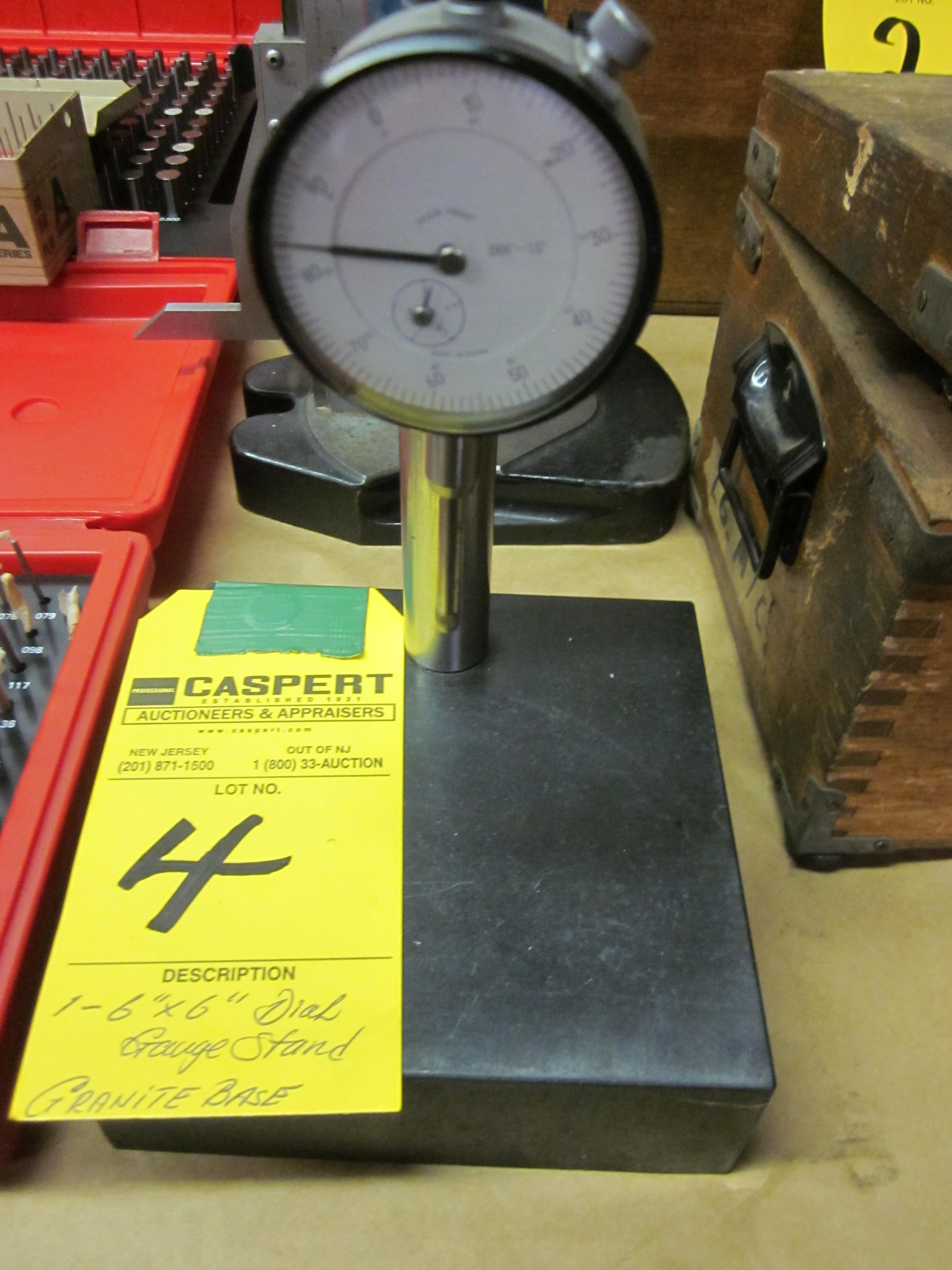 "6"" X 6"" GRANITE BASE DIAL INDICATOR"