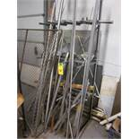 LOT - ASSORTED RACK WITH S/S/ RODS