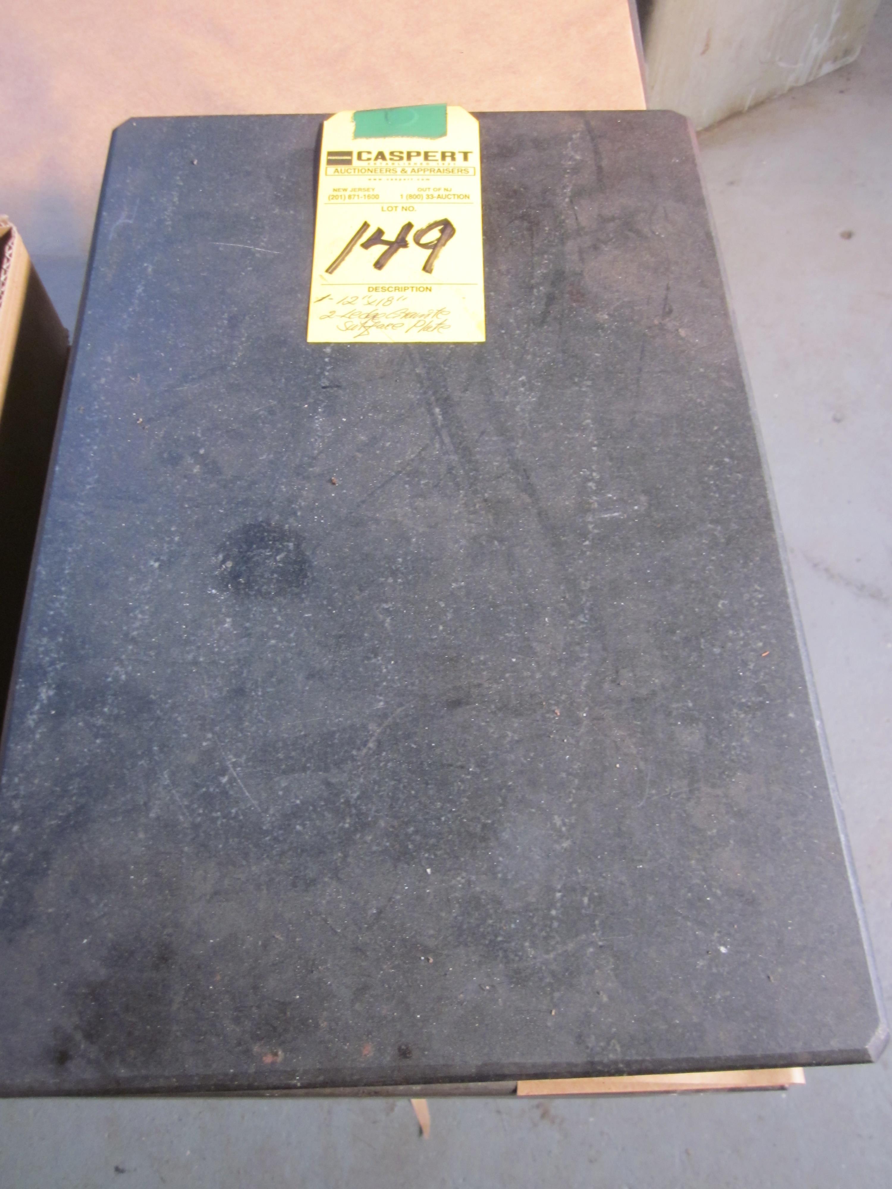 """Lot 149 - 12"""" X 18"""" 2-LEDGE GRANITE SURFACE PLATE"""