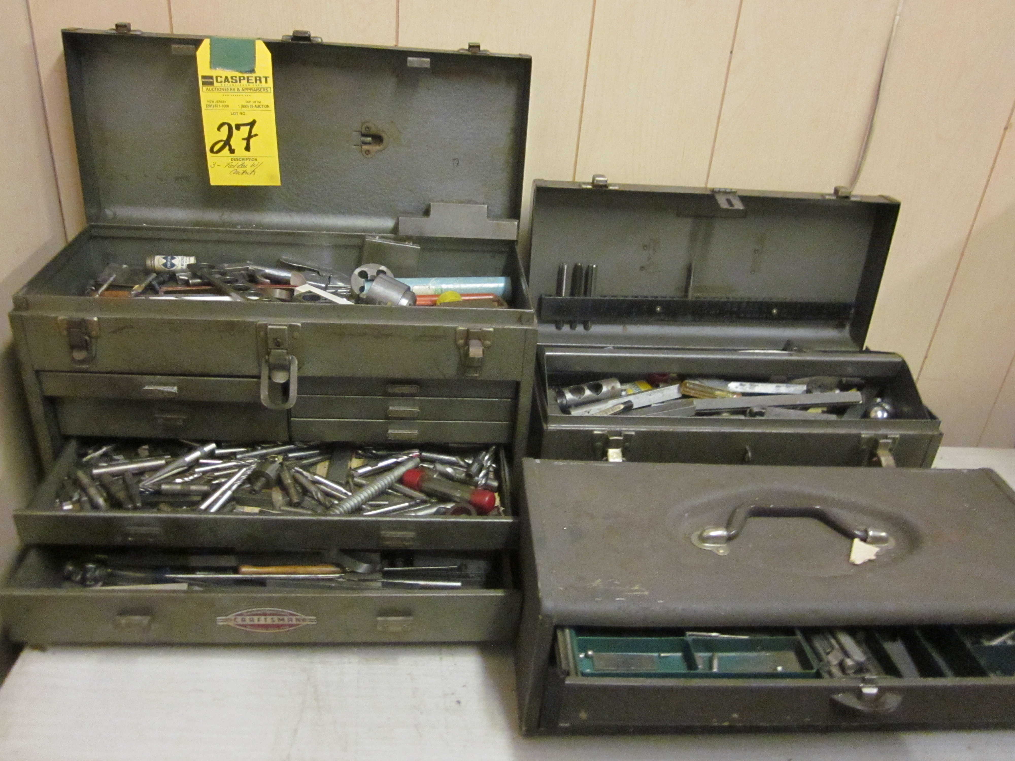 TOOL BOXES WITH CONTENTS
