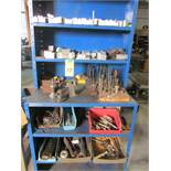 LOT - SHELVING W/ SOFT JAWS & HOLD DOWNS