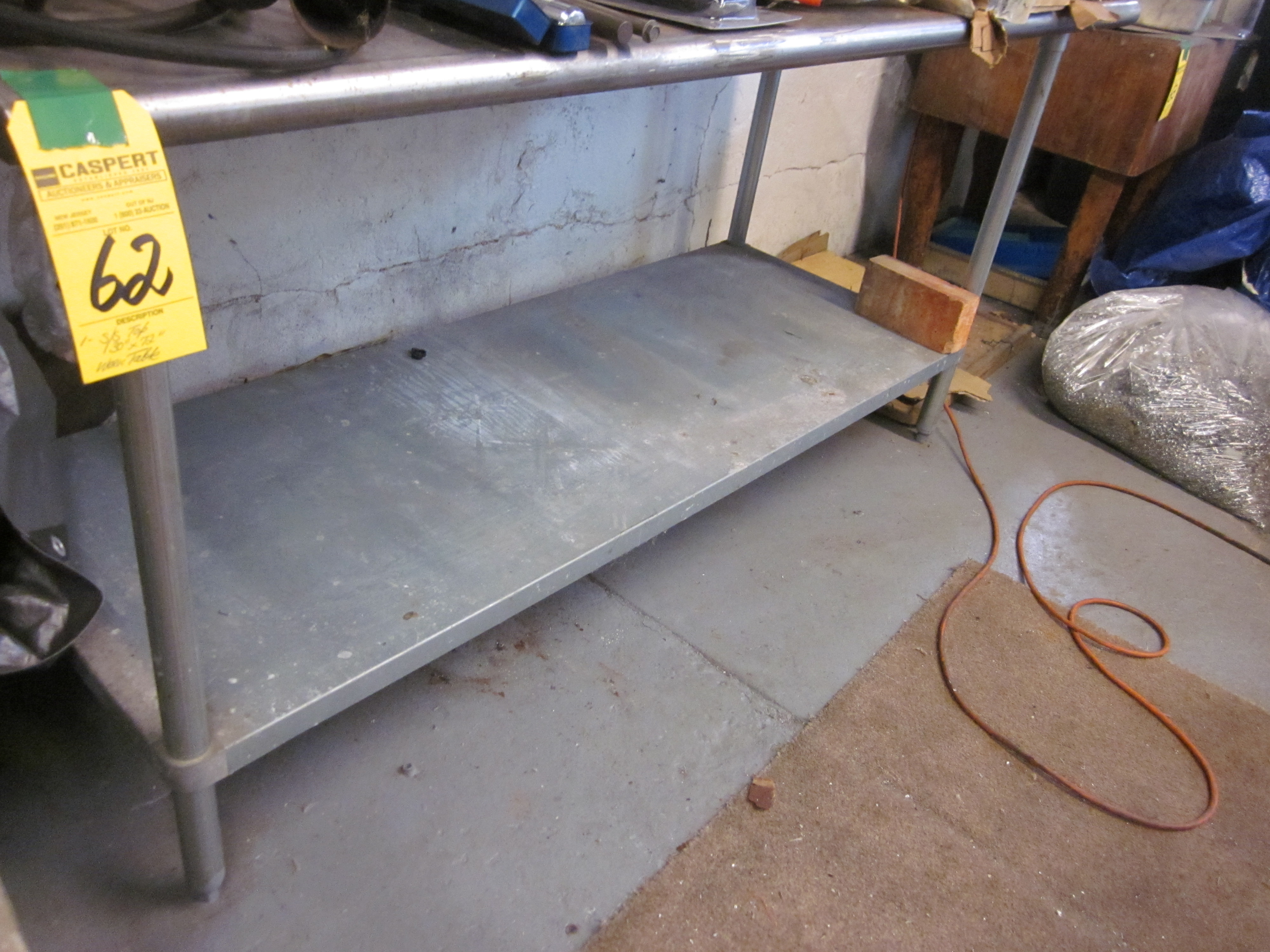 """Lot 62 - S/S 30"""" X 72"""" TABLE"""