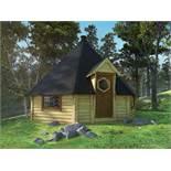 + VAT Brand New Eight Corner 25m sq Grill Cabin with Standard Grill- Adjustable Chimney- 4 Double