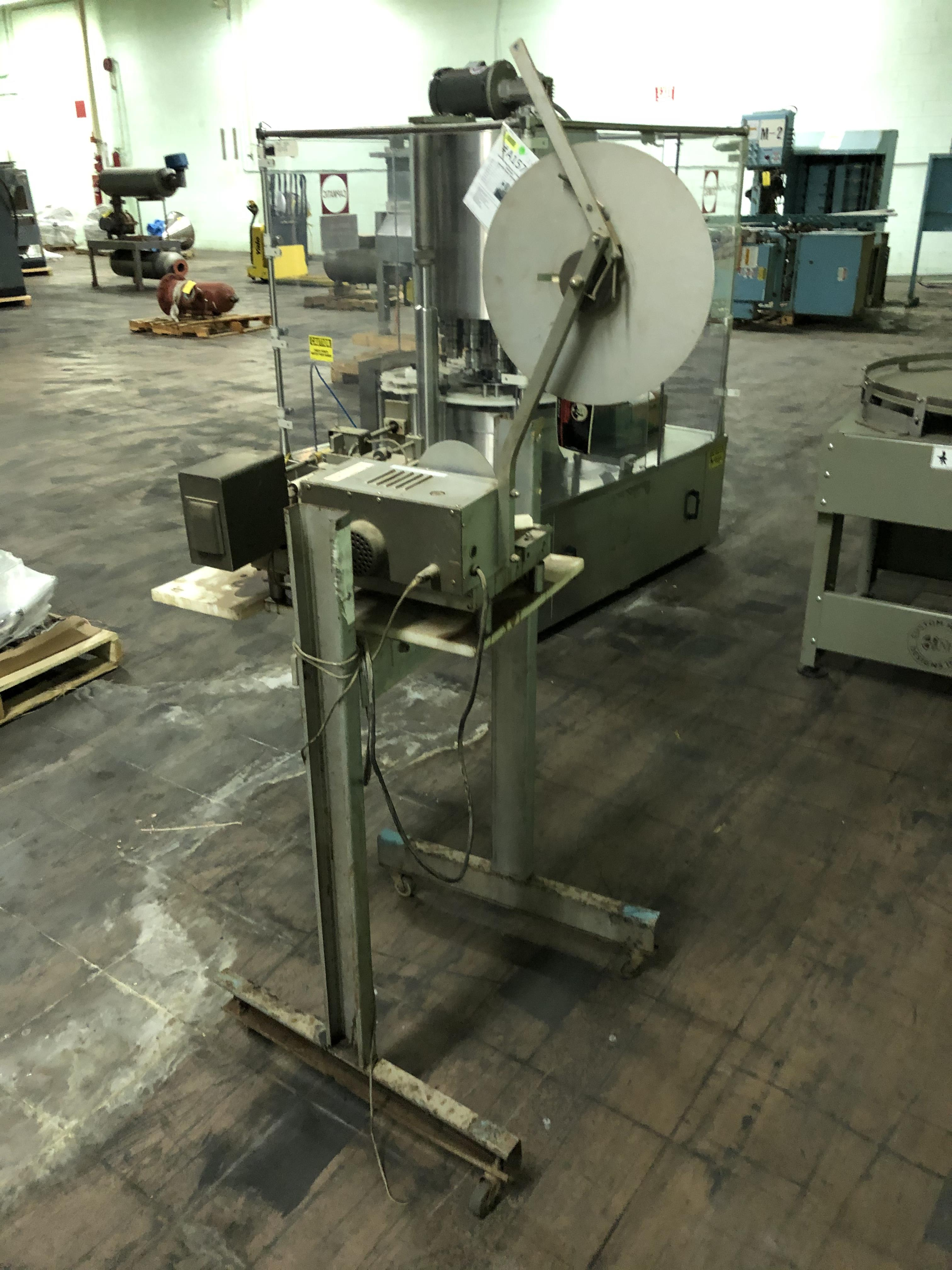 Label Machine on Stand, RIGGING FEE - $50 - Image 3 of 3