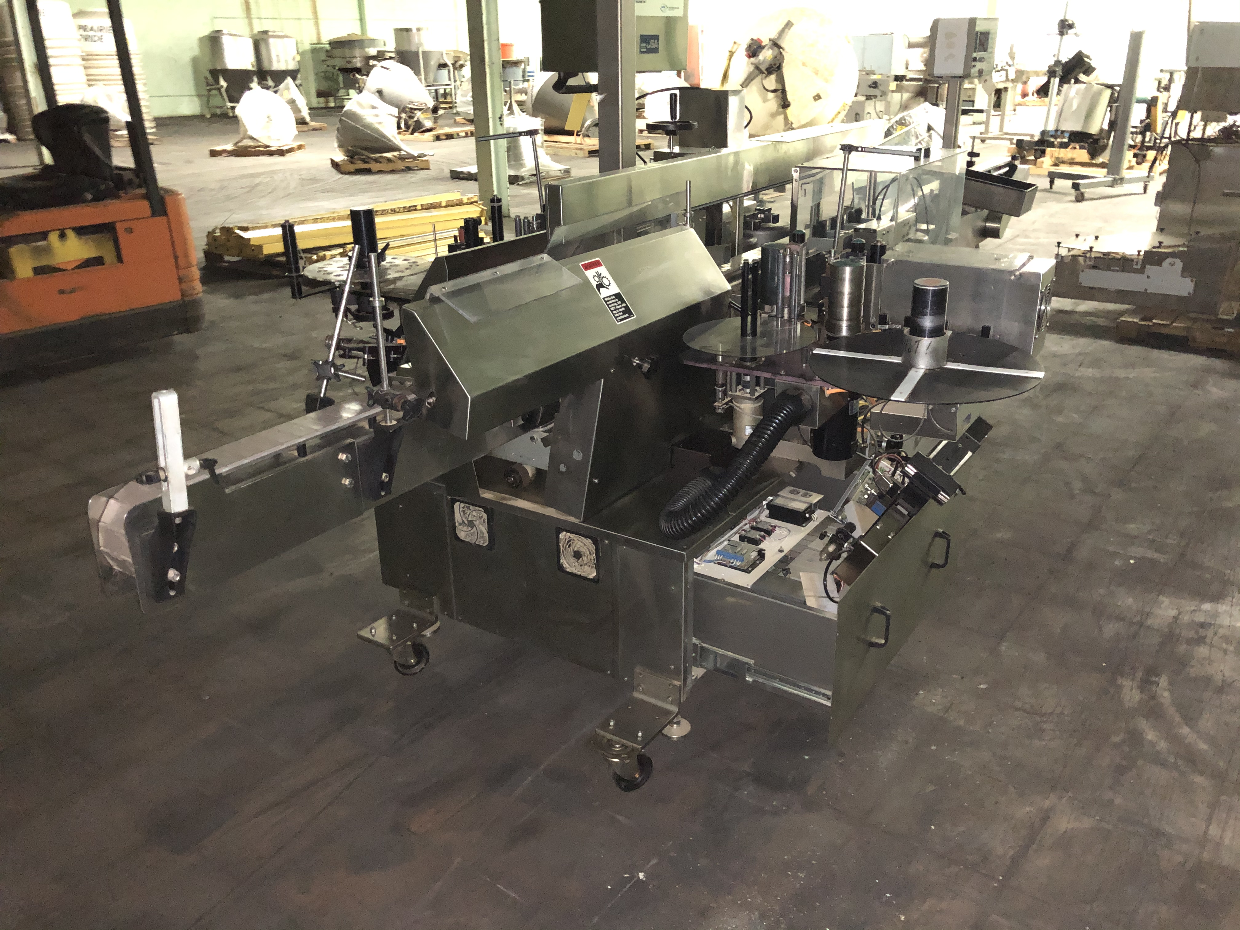 New Jersey Machine Model #34RLDBO-235-M98CO Packaging System, Allen Bradley Panelview 550 Control
