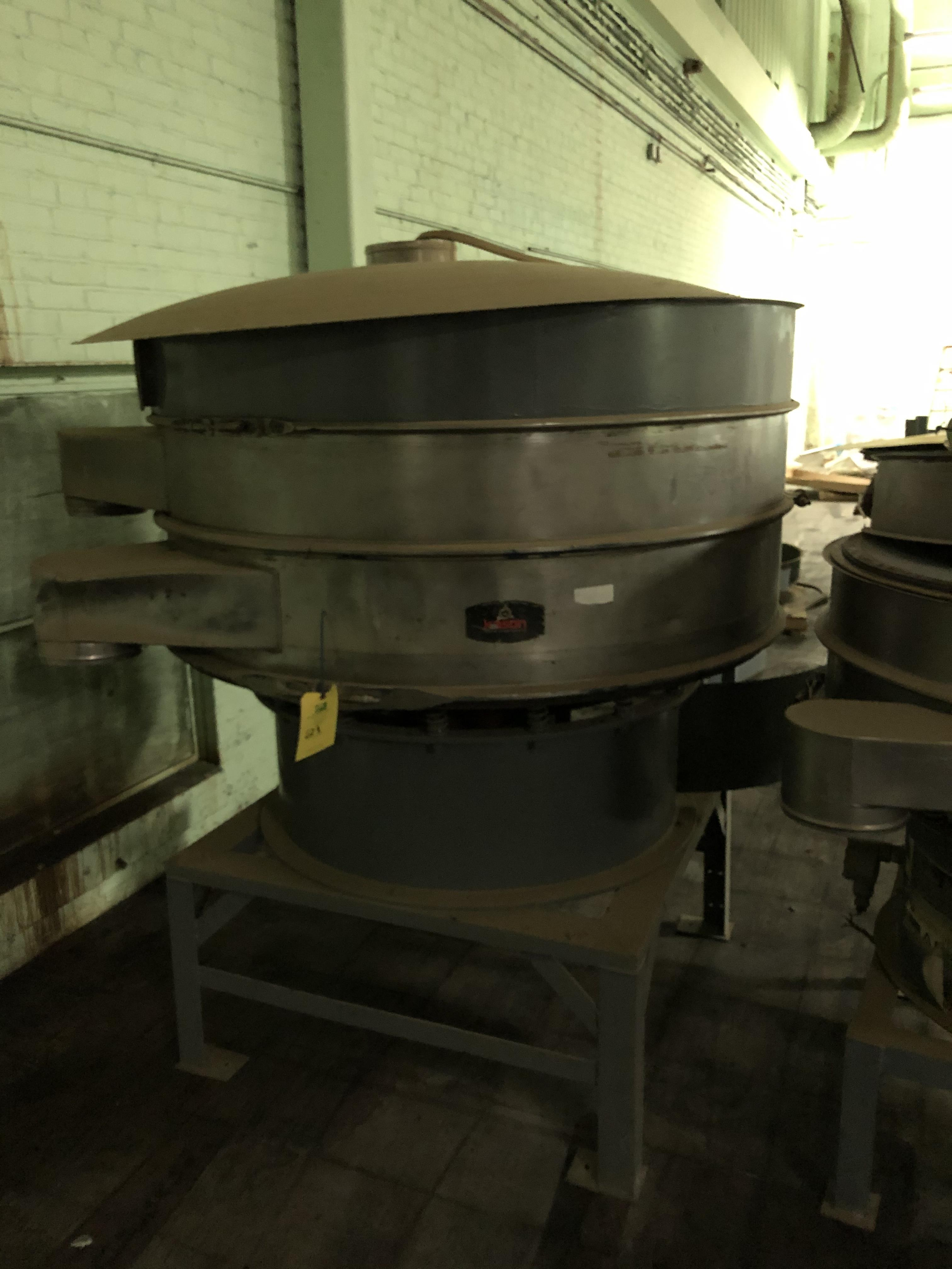 "Kason Model K-60-1-SS Vibratory Screen Separator, 60"" Diameter, SN 4020, RIGGING FEE - $100 - Image 2 of 3"