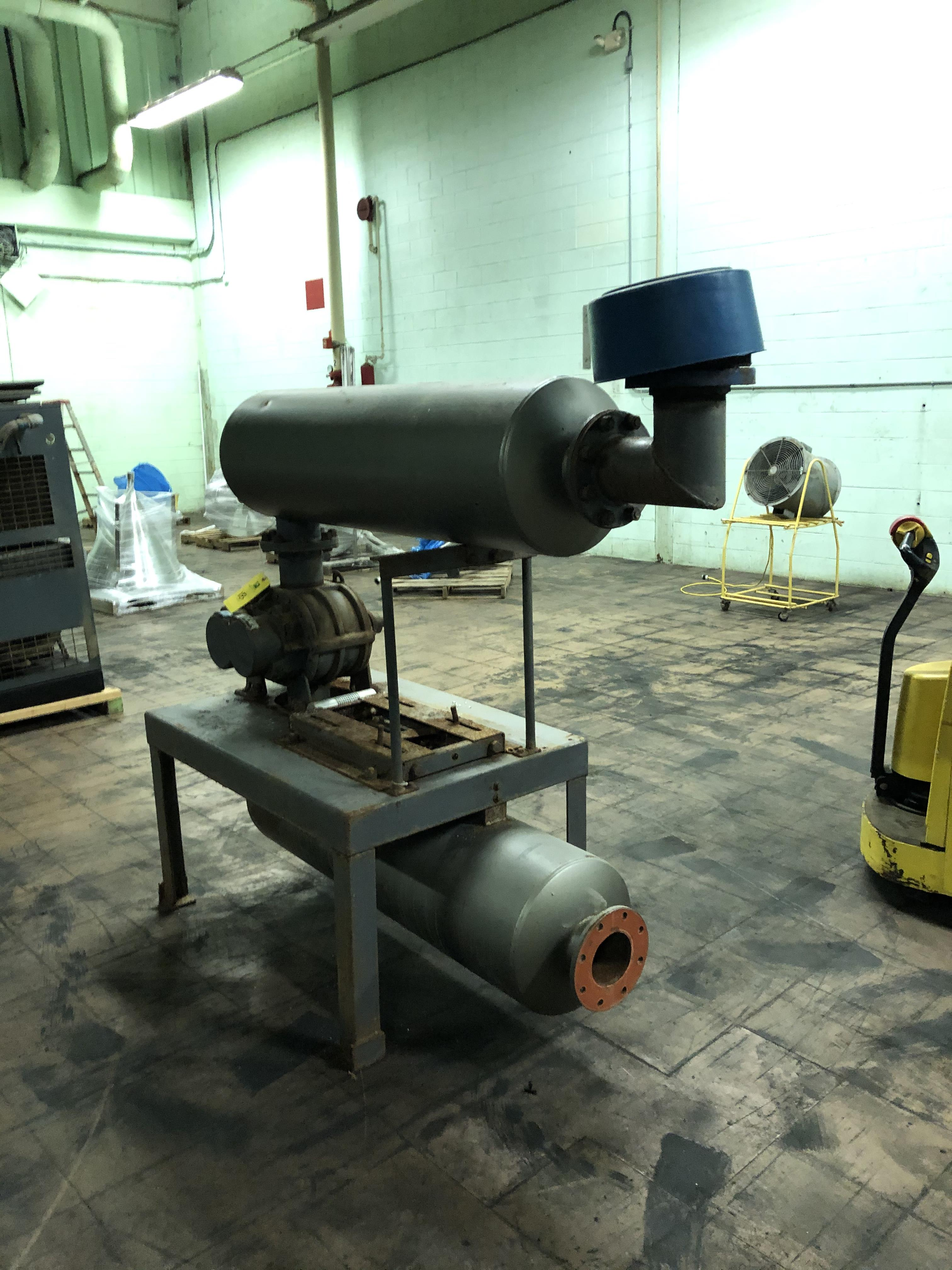 Tuthill Corp. Model #6008-21L2 Vacuum Pump, Tanks, Stand, Note - No Motor, RIGGING FEE - $150