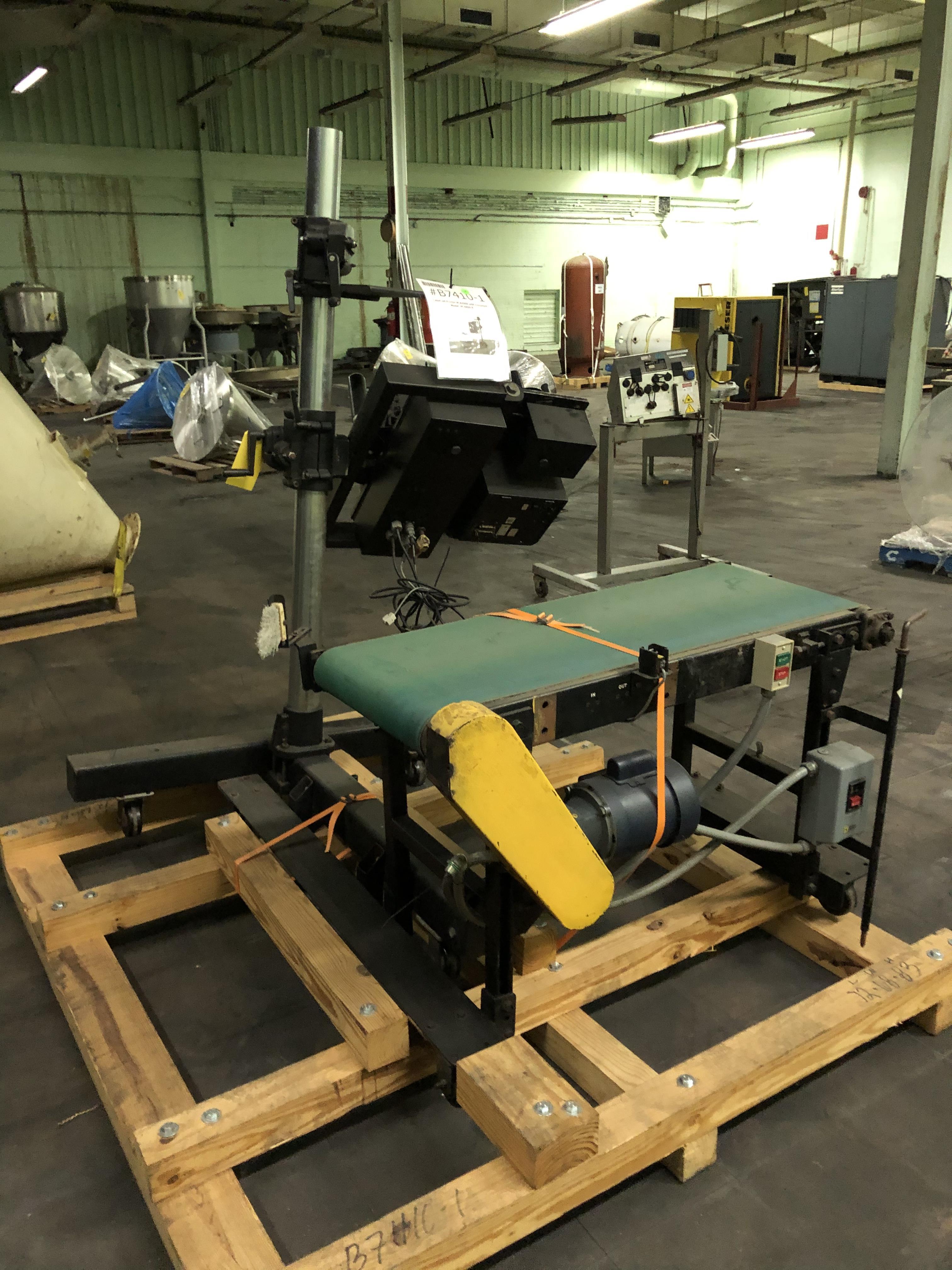 Label Jet Model #8400-S Printer, Includes Conveyor, RIGGING FEE - $175 - Image 3 of 3