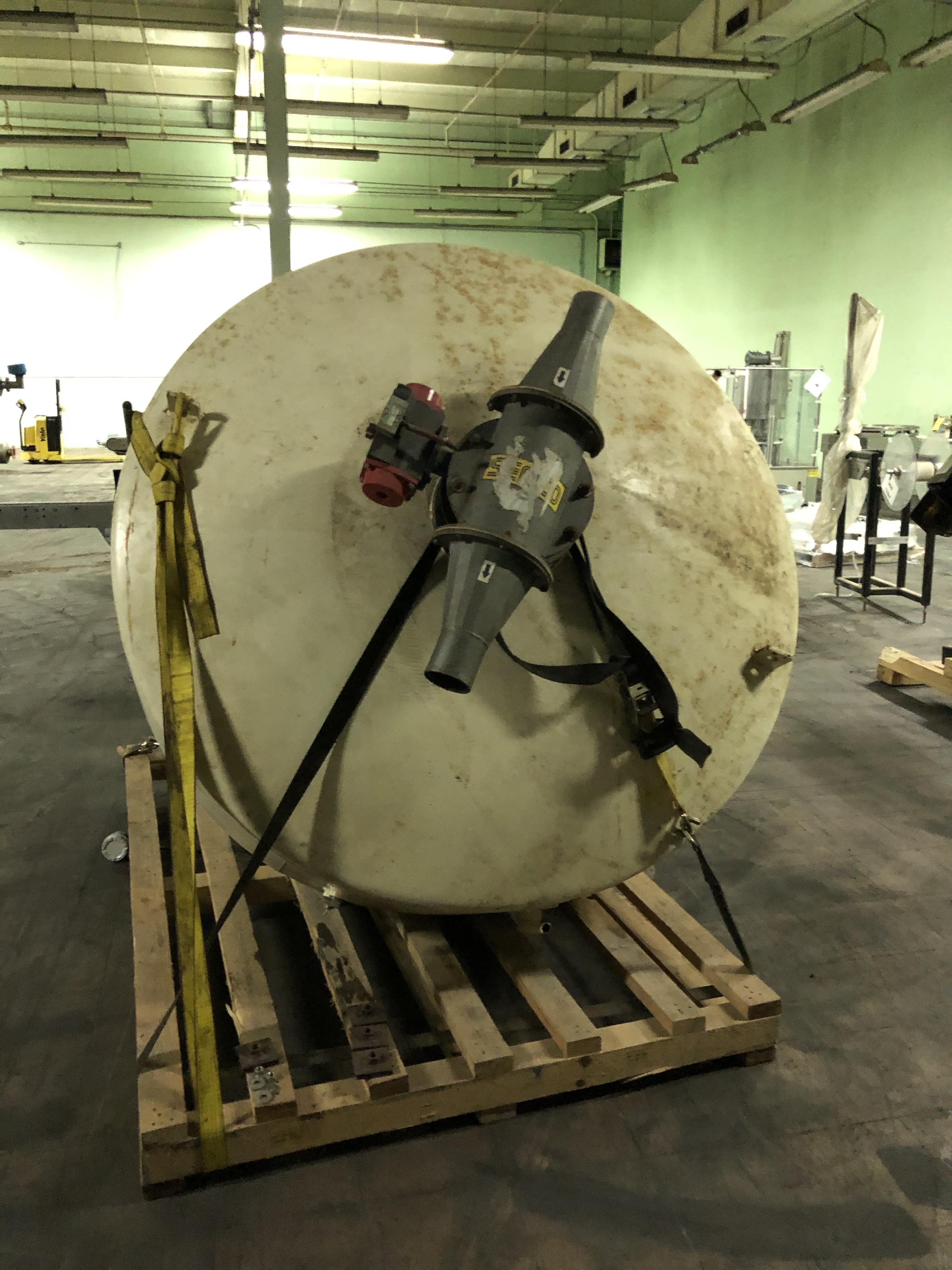 """Steel Hopper, 72"""" Diameter x 80"""" Top - Bottom of Cone, Includes Numatic A. R. Valve, RIGGING FEE - $ - Image 2 of 2"""