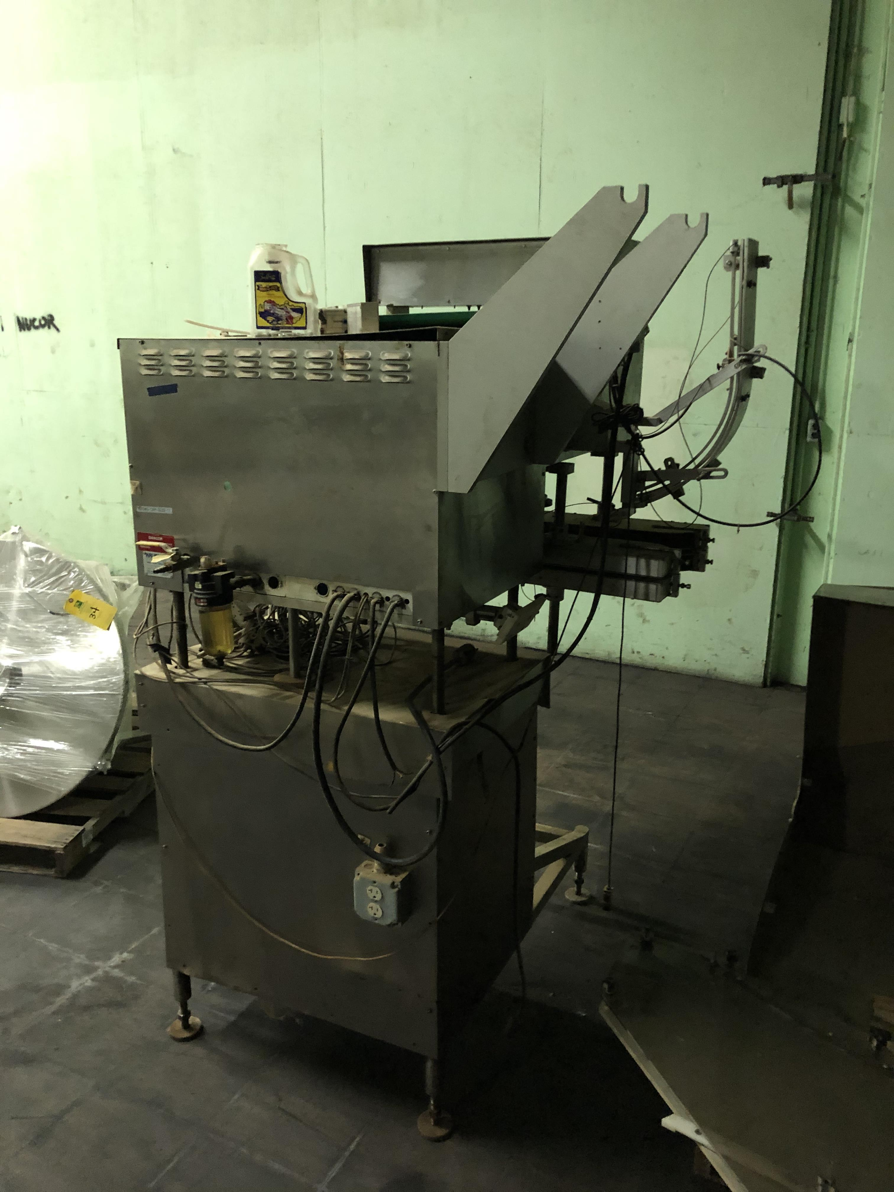 Kalish Model #5010 Supercap Capper, SN 0310, Includes Conveyor Feed, RIGGING FEE $450 - Image 4 of 6