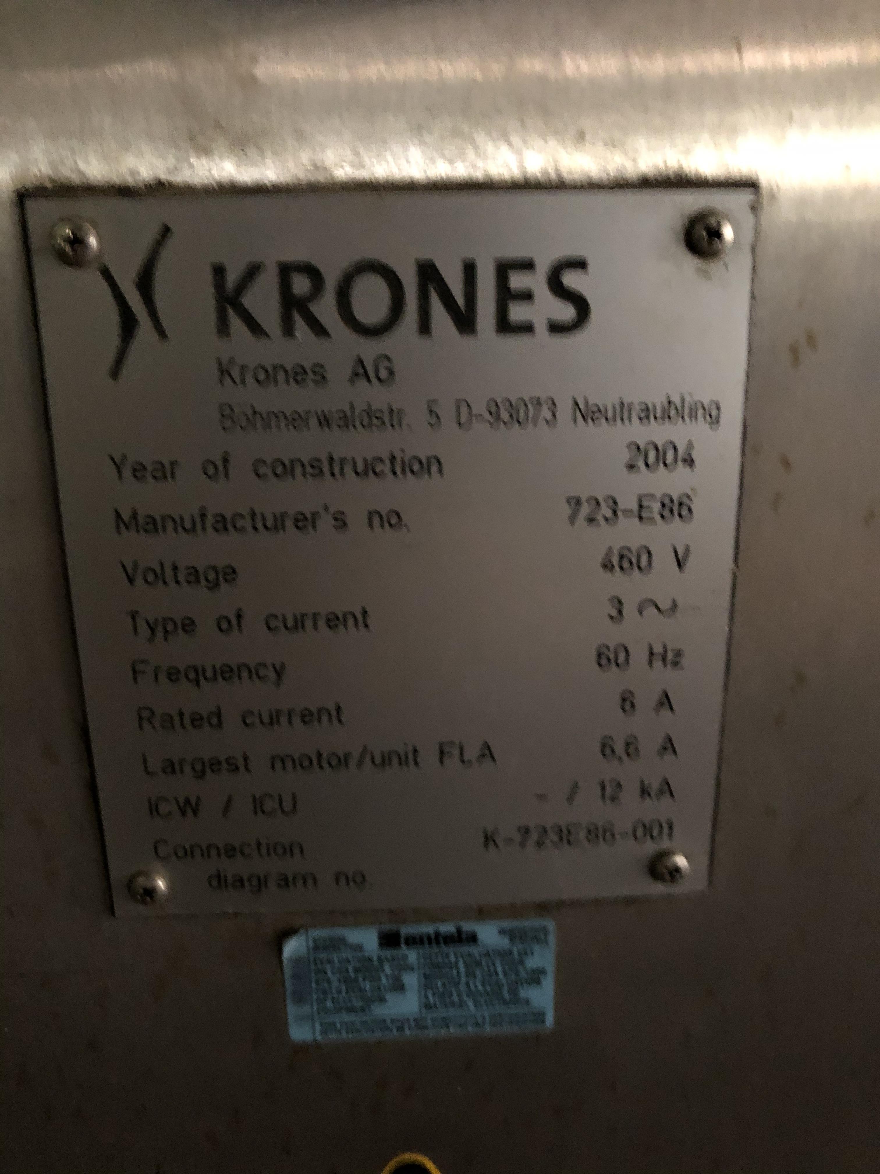 Krones Universella Labeler, Machine #723-E86, RIGGING FEE - $1750 - Image 2 of 6