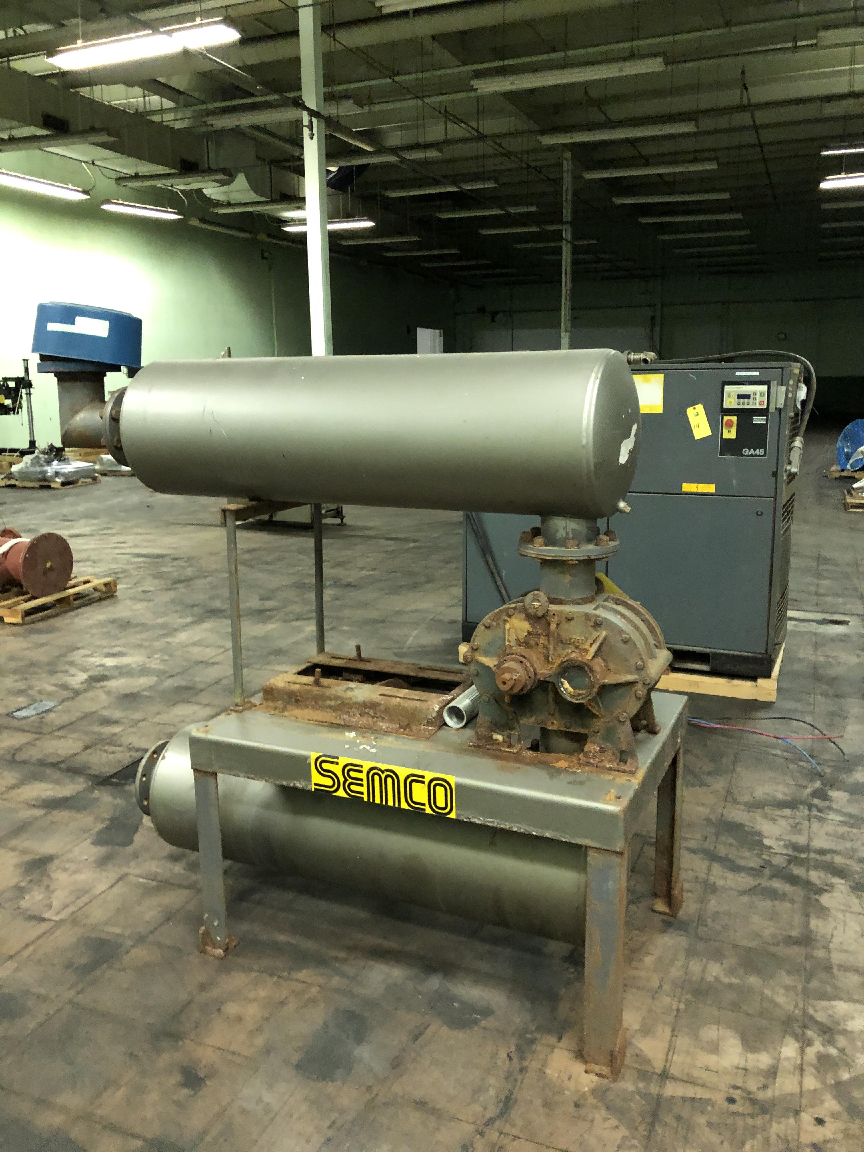 Tuthill Corp. Model #6008-21L2 Vacuum Pump, Tanks, Stand, Note - No Motor, RIGGING FEE - $150 - Image 2 of 2