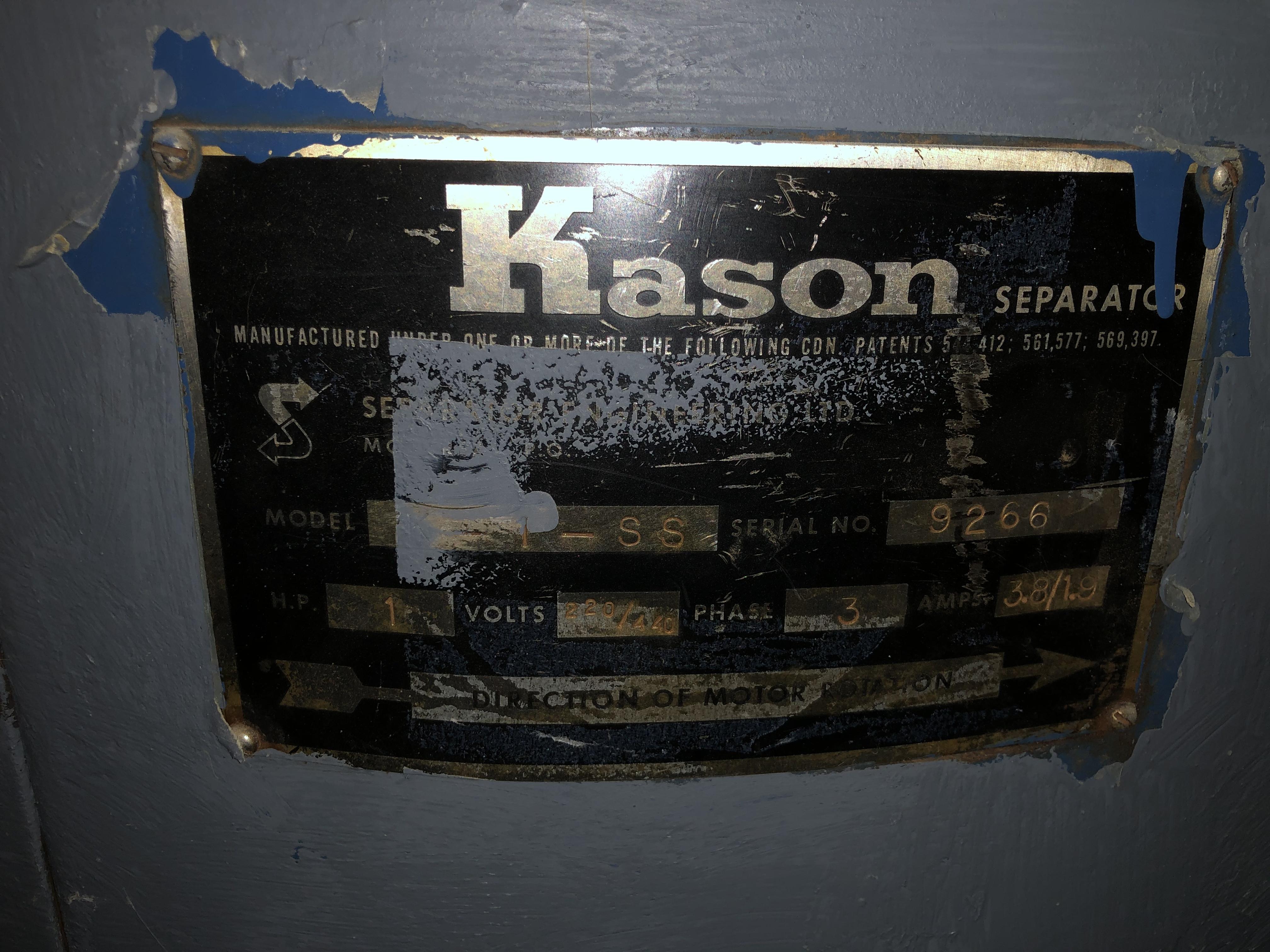 "Kason 48"" Diameter Vibratory Screen Separator, RIGGING FEE - $100 - Image 3 of 4"