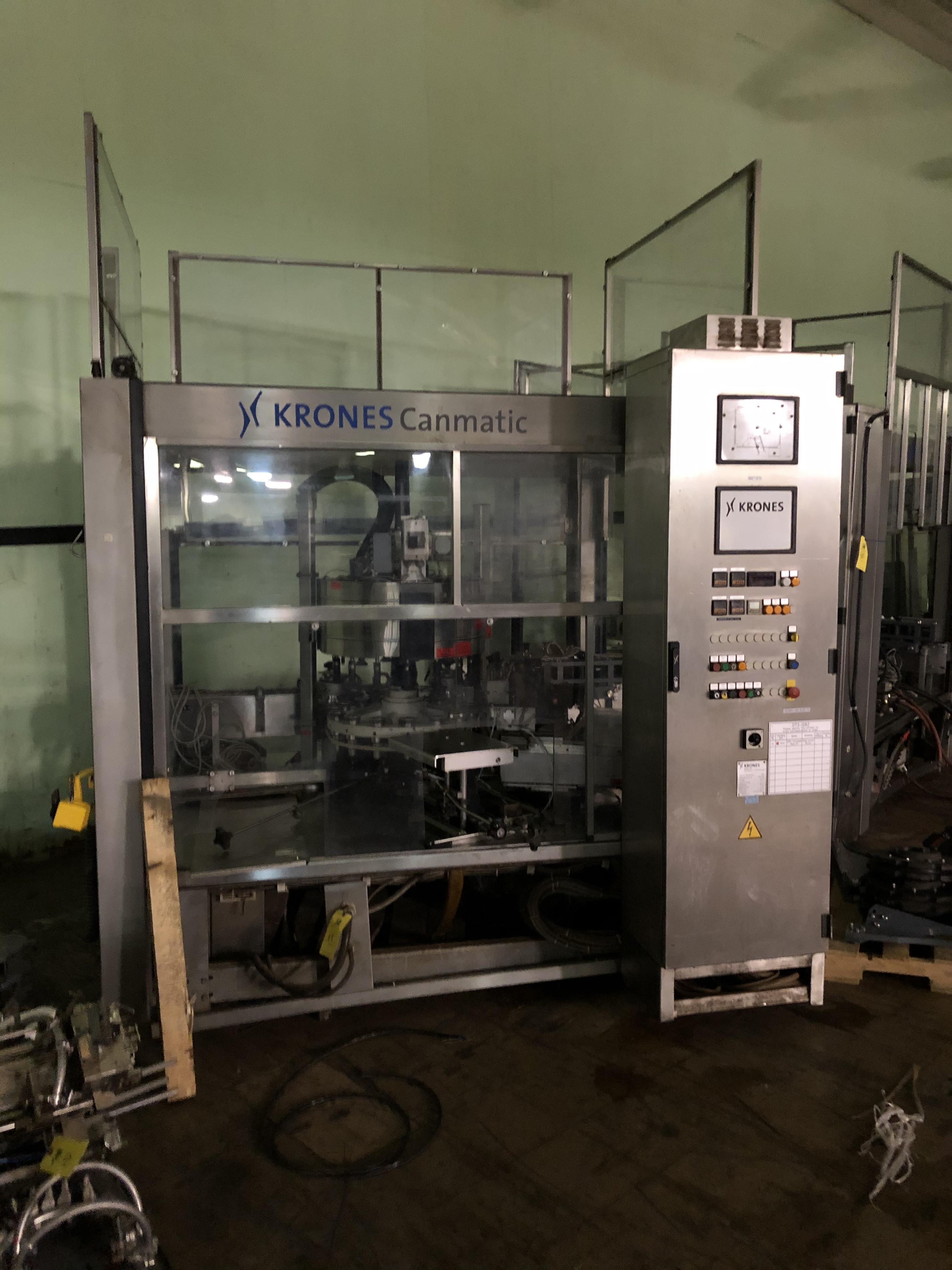 Krones Canmatic Labeler, Machine #073-Q82, RIGGING FEE - $1750