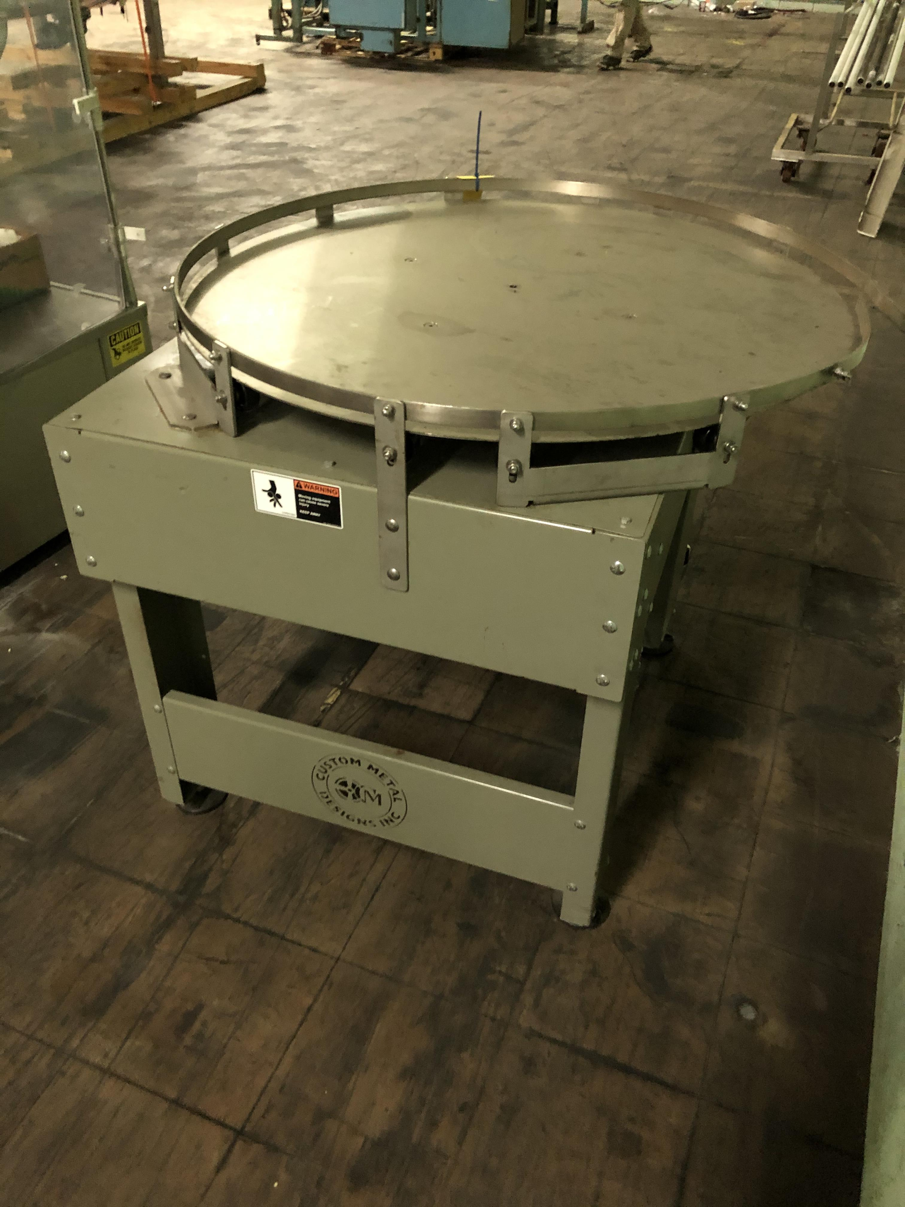 "Custom Metal Design 41"" Diameter Rotary Accumulation/Feed Table, RIGGING FEE $75 - Image 3 of 3"
