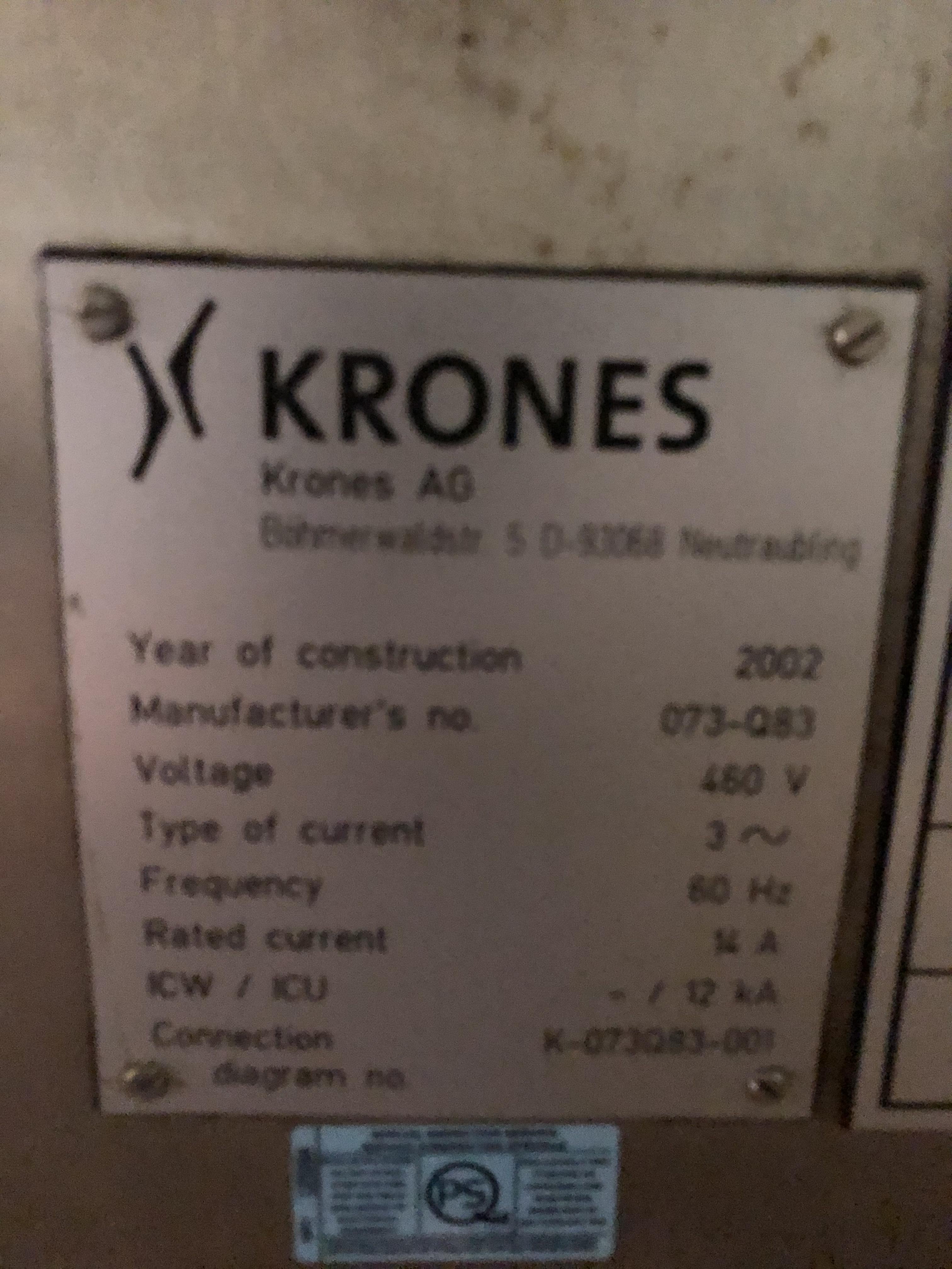 Krones Canmatic Labeler, Machine #073-Q83, RIGGING FEE - $1750 - Image 2 of 5