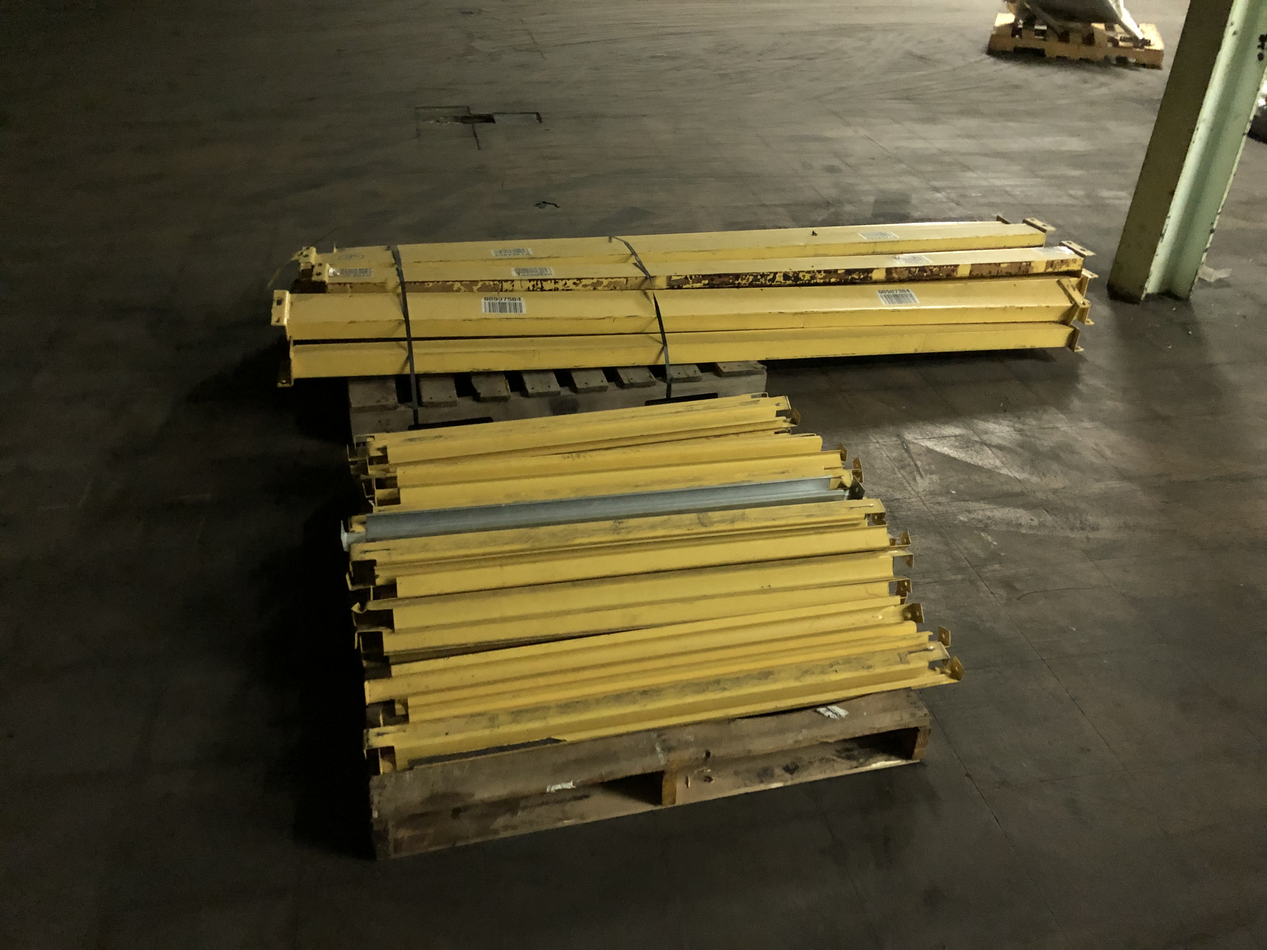 "Pallet Rack Components Consisting of (13) 8' Length Beams, Assorted 42"" Supports, (5) 20' Uprights - Image 2 of 2"