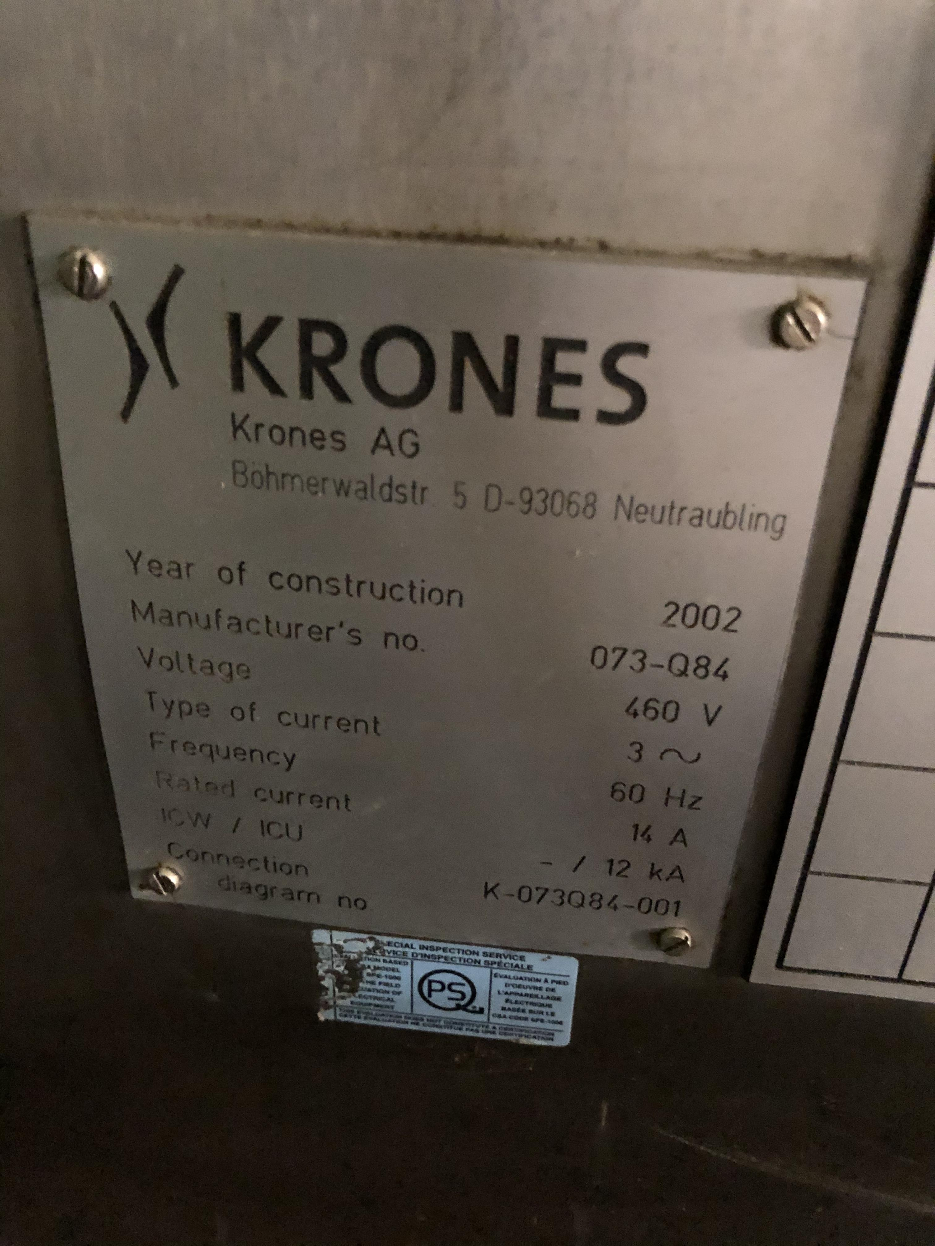 Krones Canmatic Labeler, Machine #073-Q84, RIGGING FEE - $1750 - Image 4 of 4