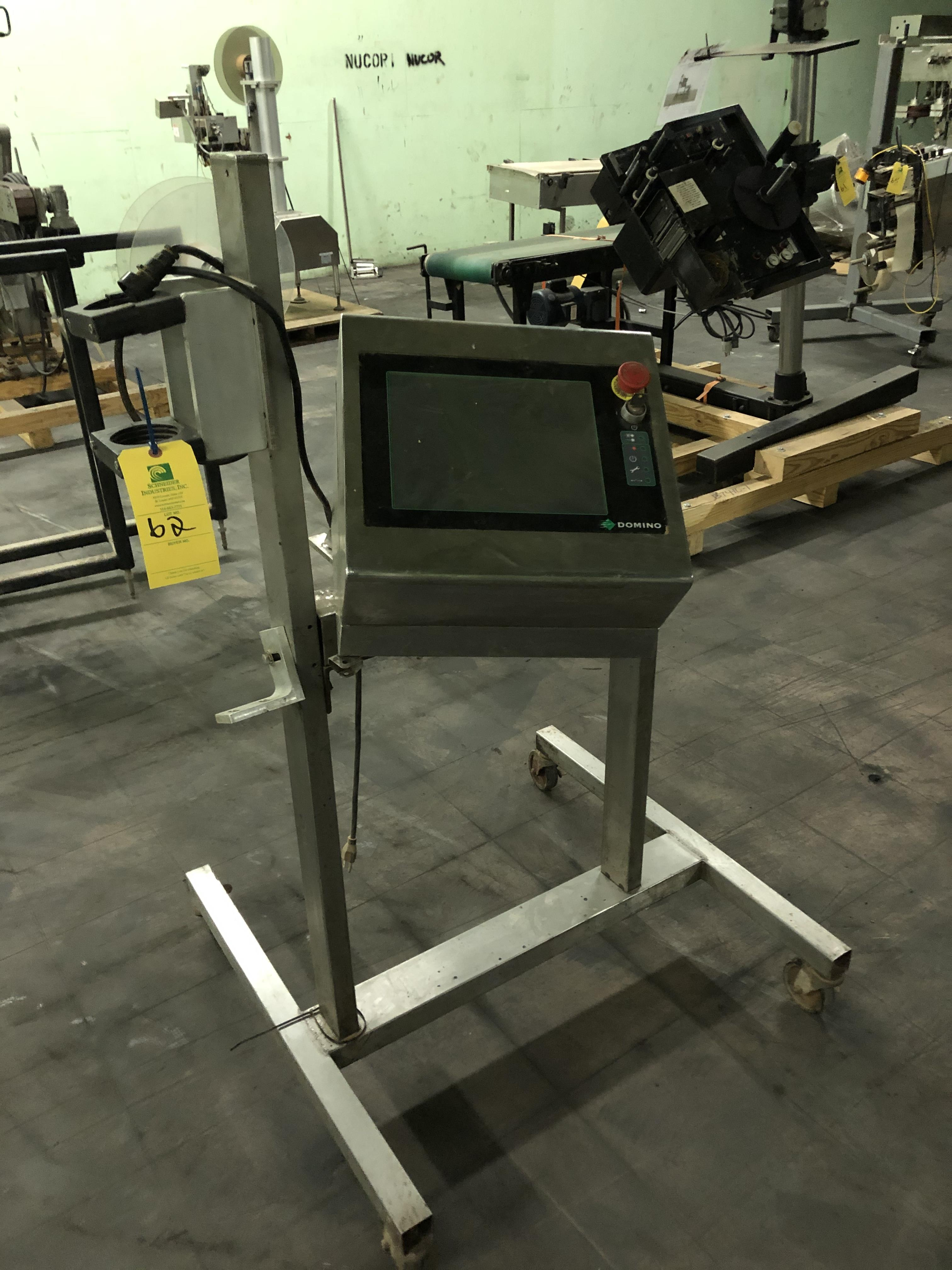 Domino S-Series Laser Printer, SS Stand w/ 4-Casters, RIGGING FEE - $50