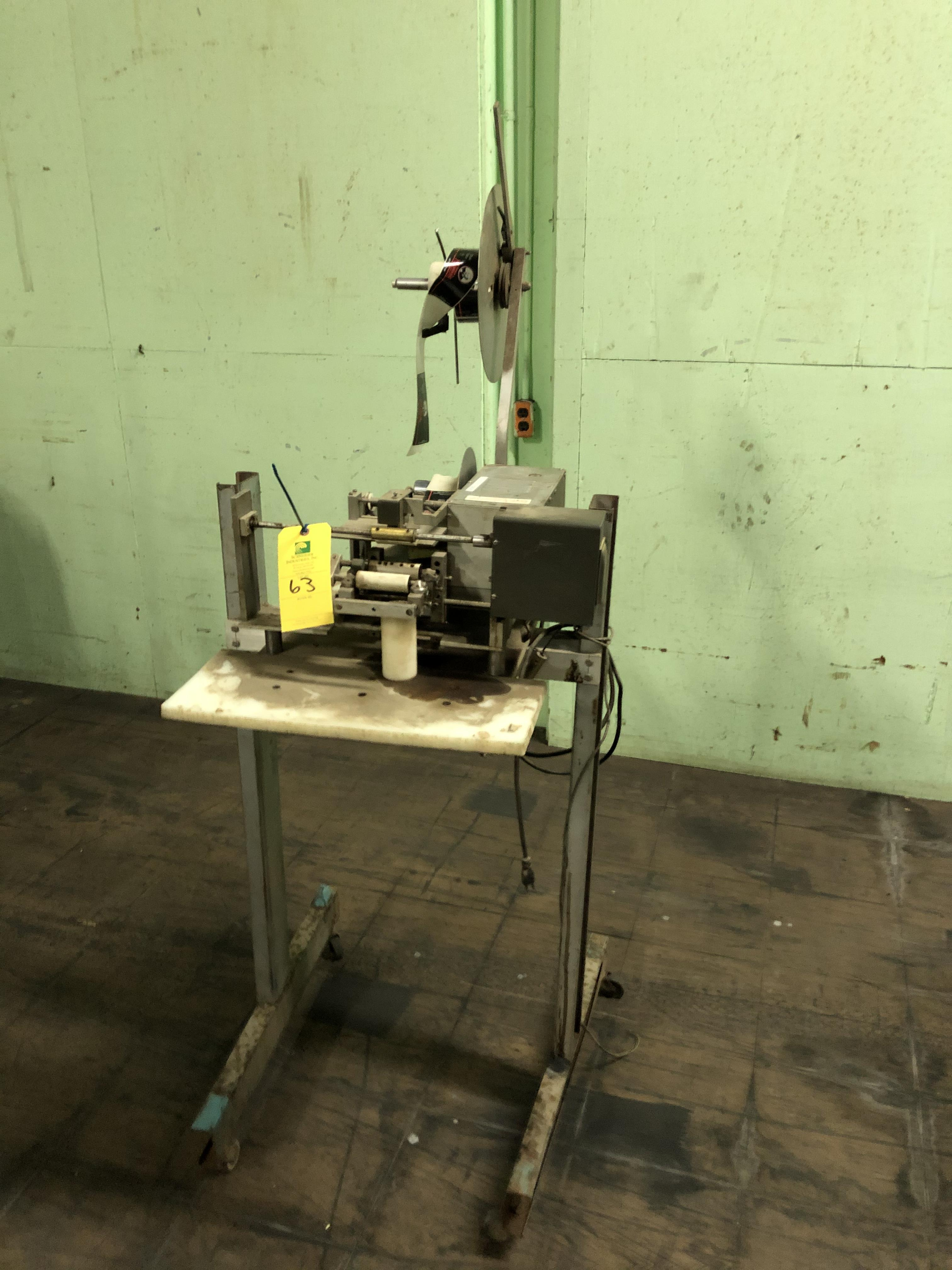 Label Machine on Stand, RIGGING FEE - $50 - Image 2 of 3